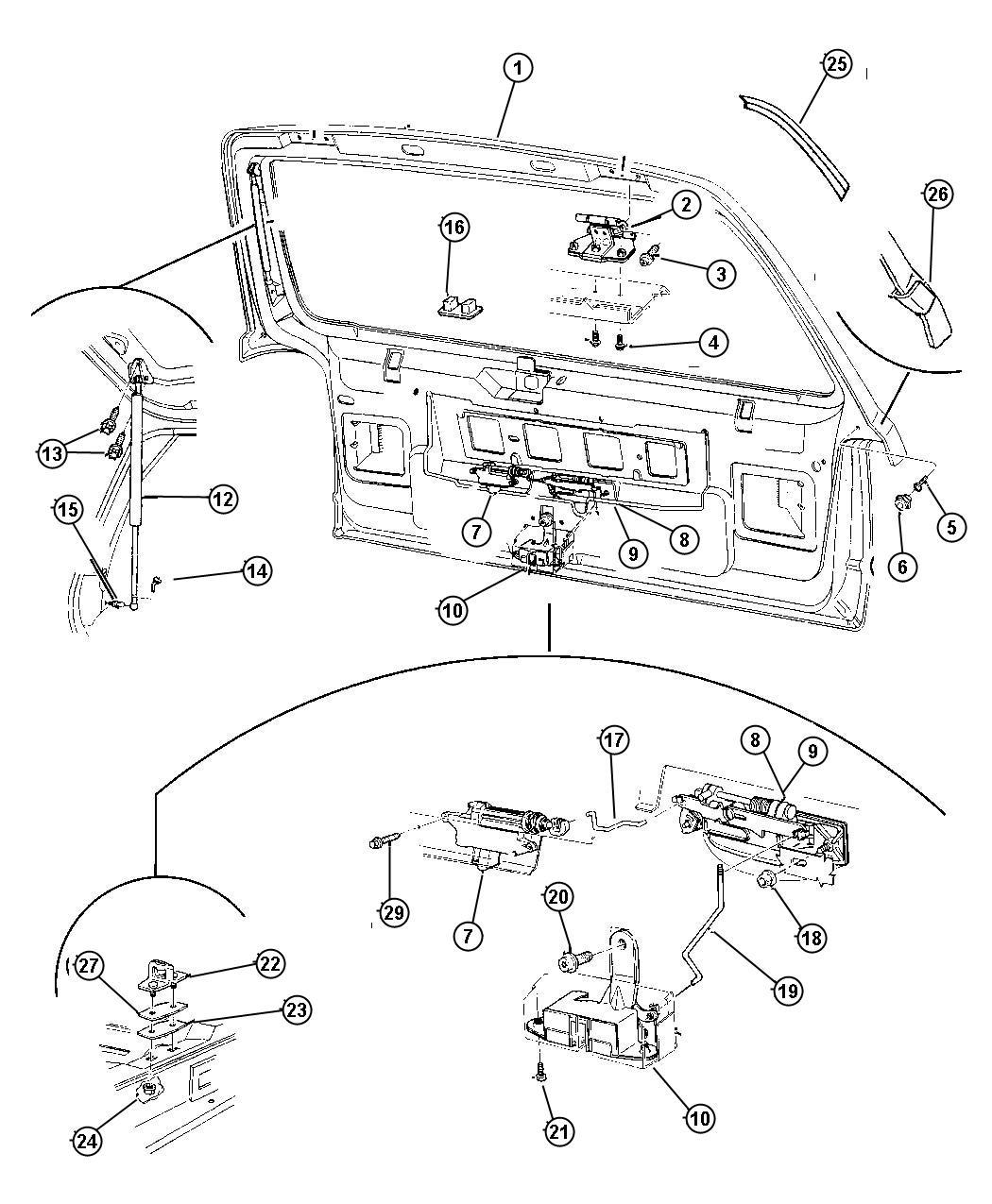 1998 Jeep Grand Cherokee Striker  Door Latch  Lach