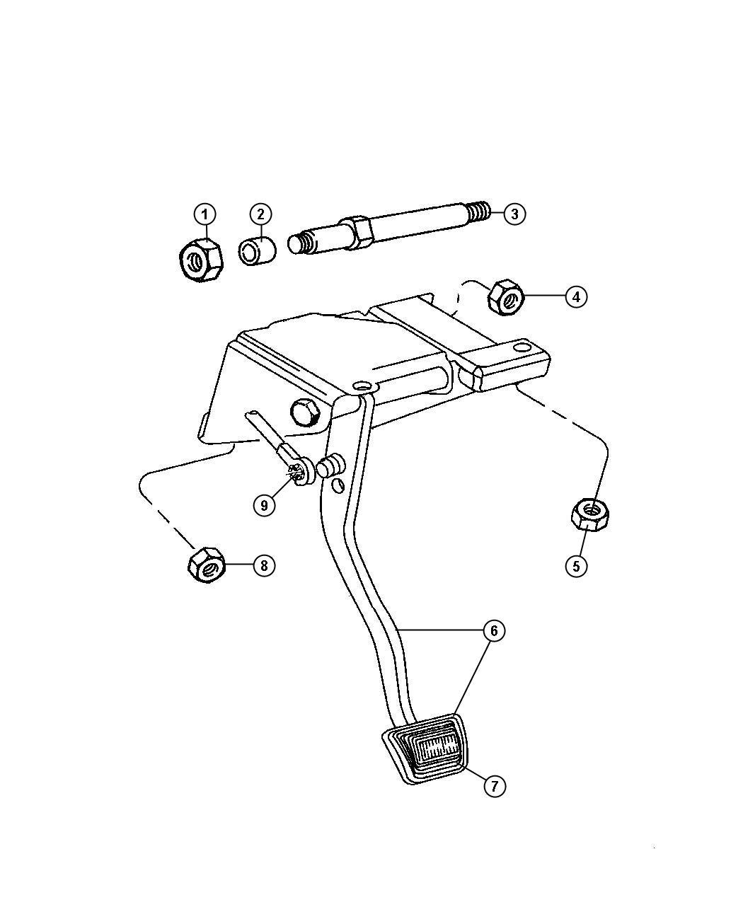 Jeep Wrangler Clutch Pedal Linkage