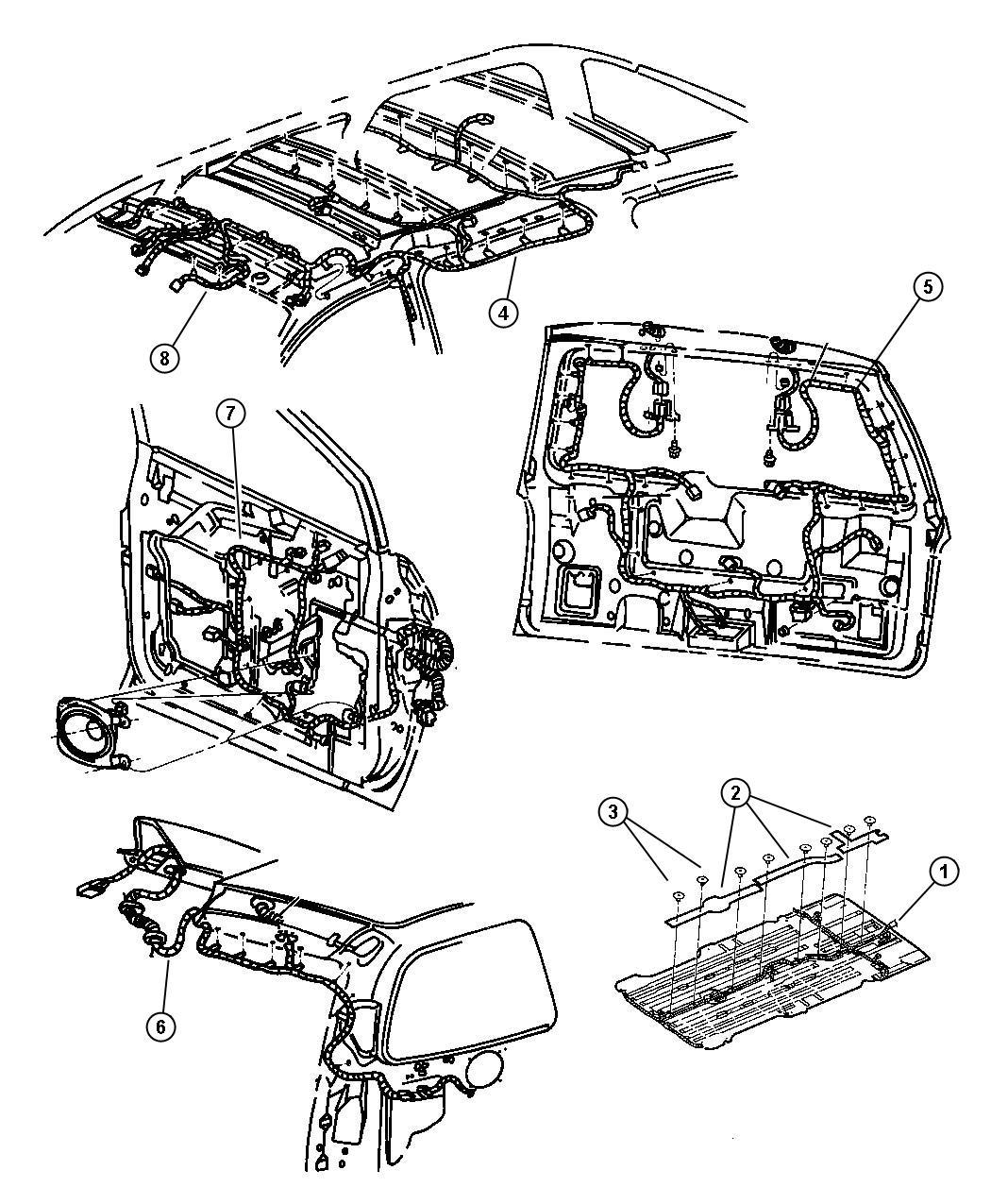 dodge grand caravan harness wiring air conditioning. Black Bedroom Furniture Sets. Home Design Ideas