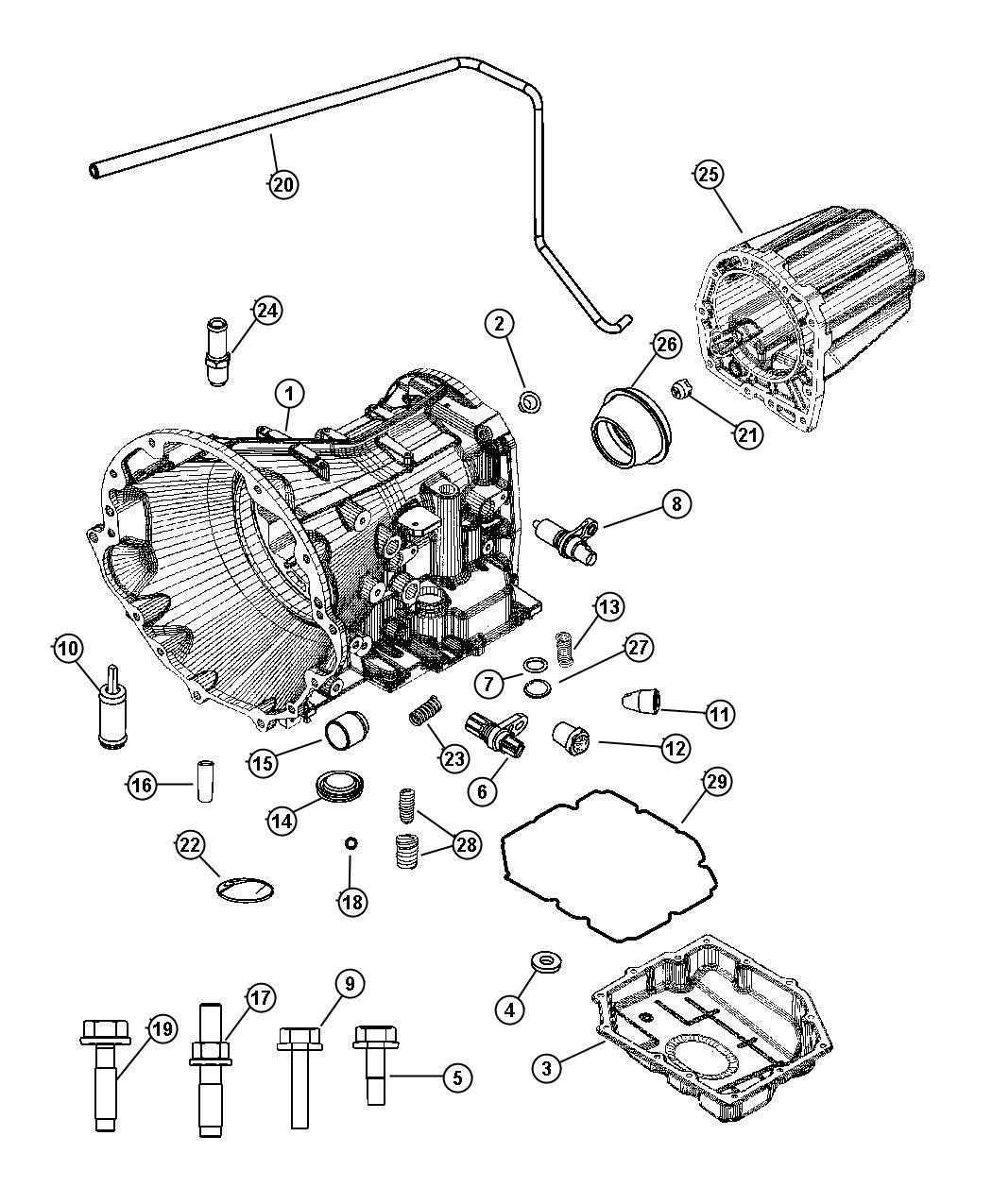 Dodge Transmission Parts Diagram on 2004 dodge stratus parts diagram