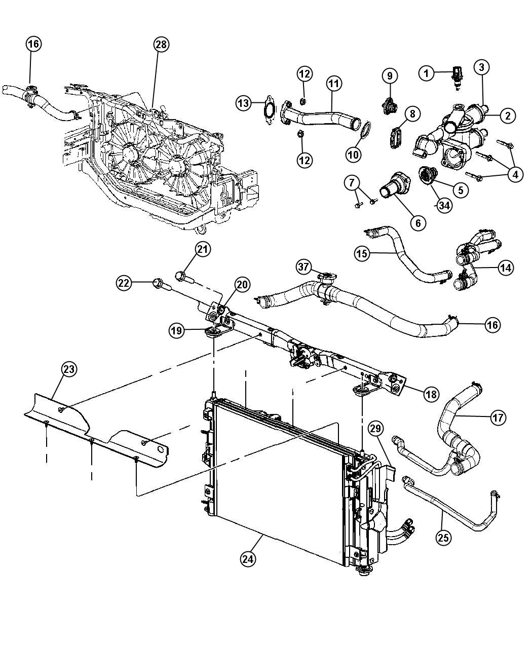 Location Of Thermostat On Dodge Charger 2 7 Wiring Source