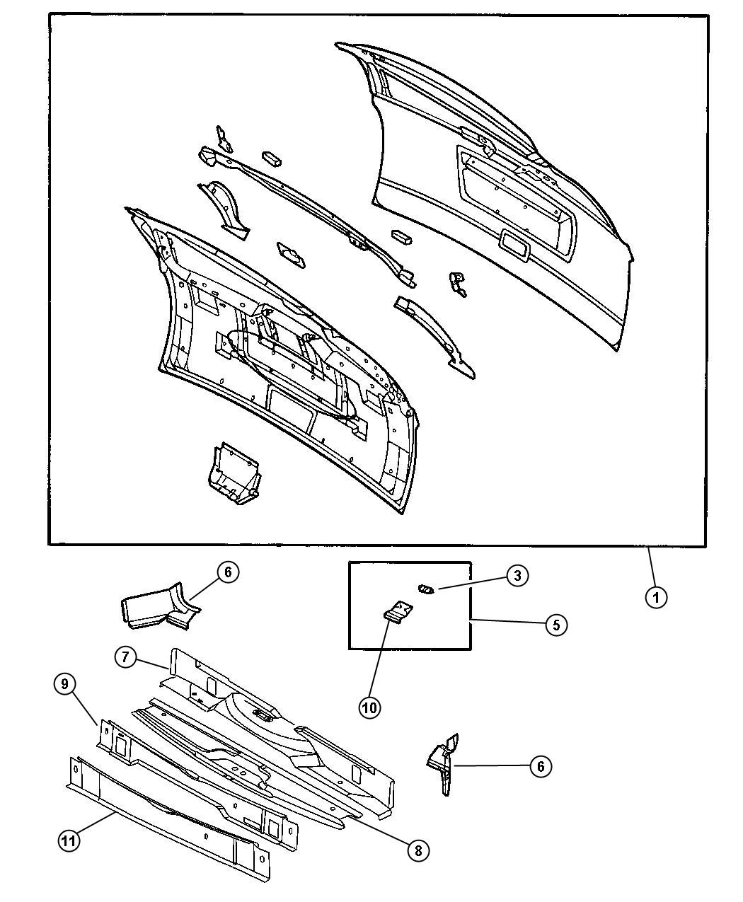 chrysler town  u0026 country panel  liftgate opening  lower rear  with  2nd row buckets 60  40 bench