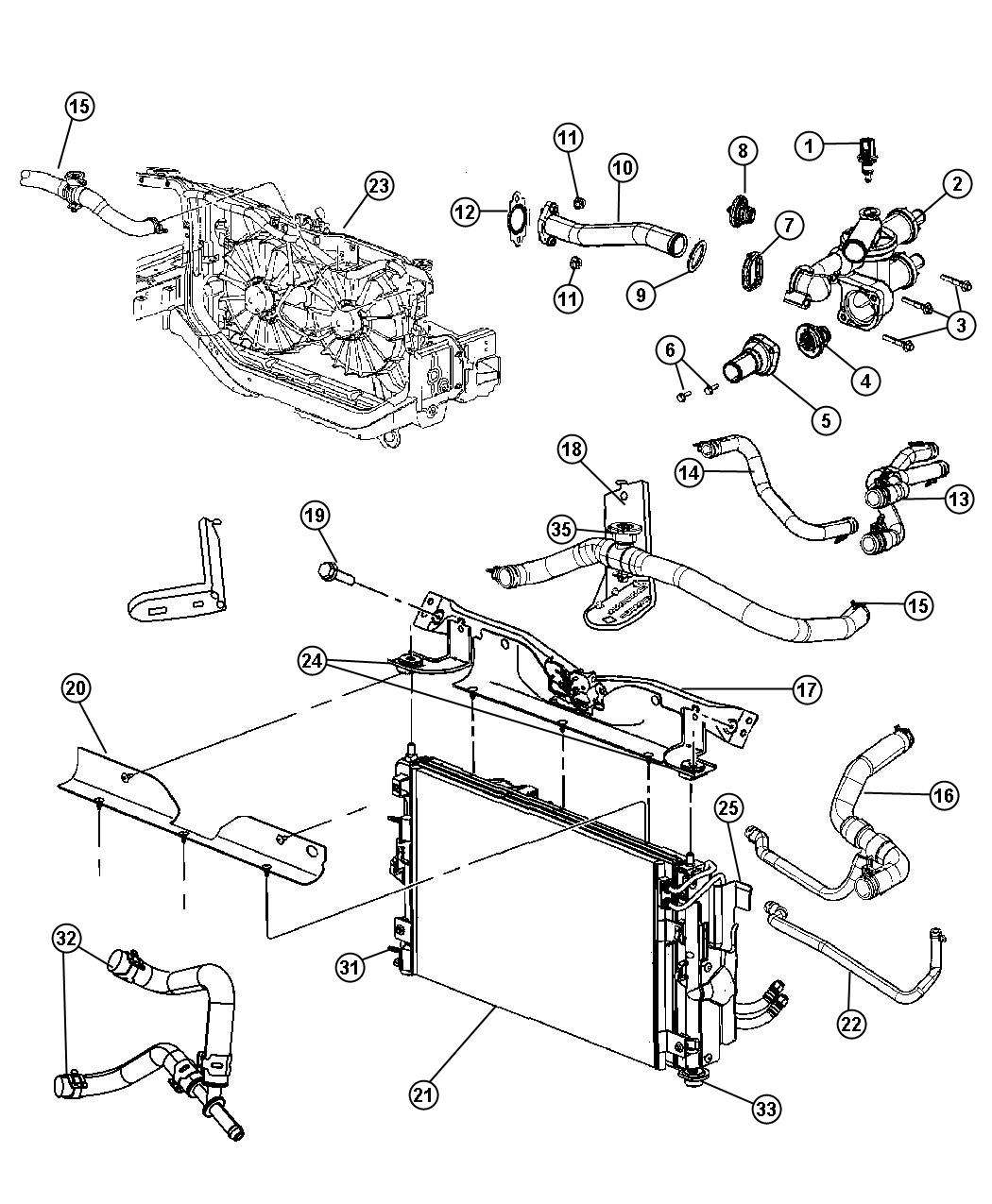 cooling system diagram jeep cj