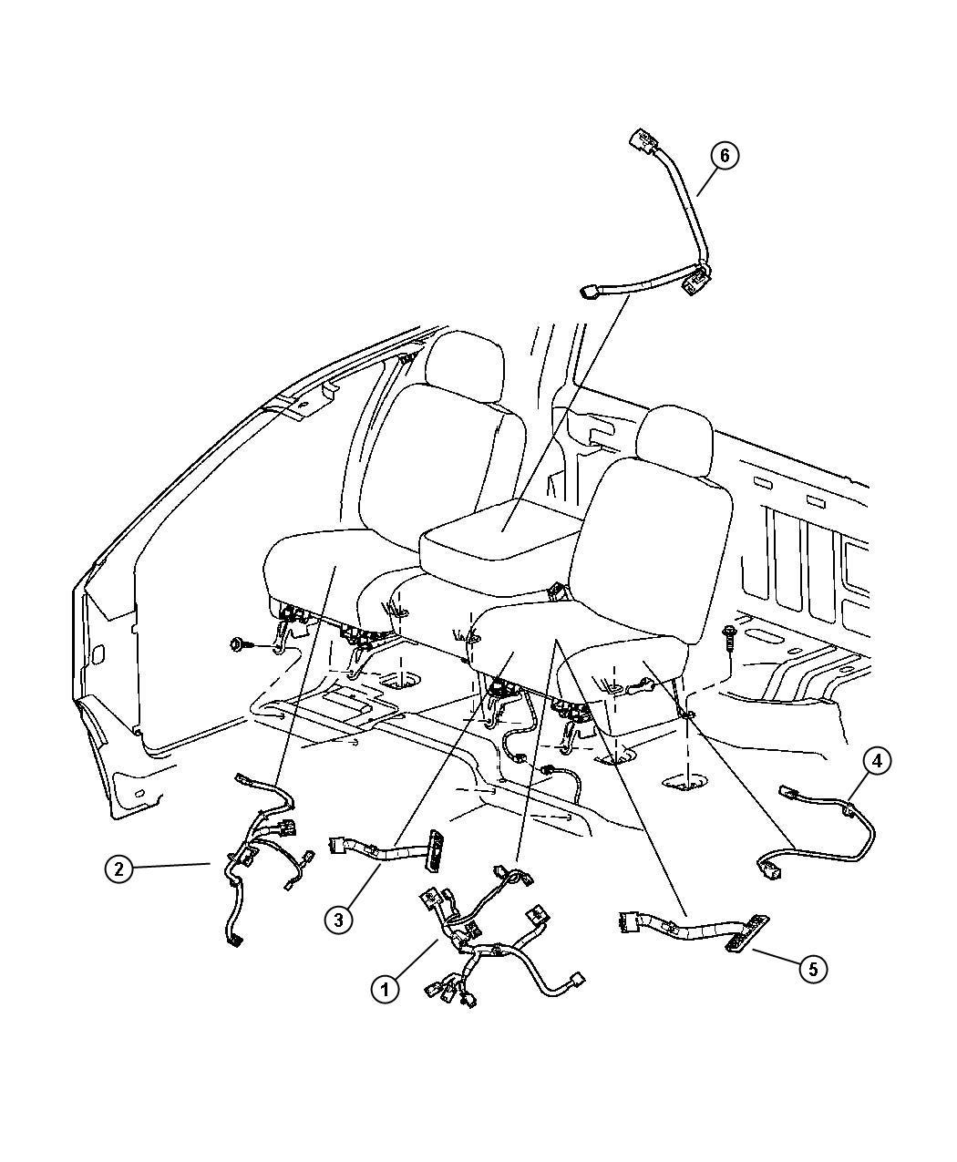 2007 Dodge Ram 3500 Wiring Seats