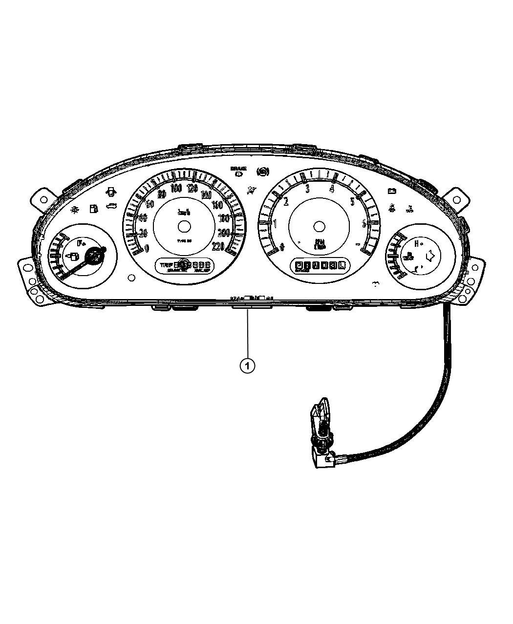 Dodge Grand Caravan Bulb  Pc74  Cluster  Instrument
