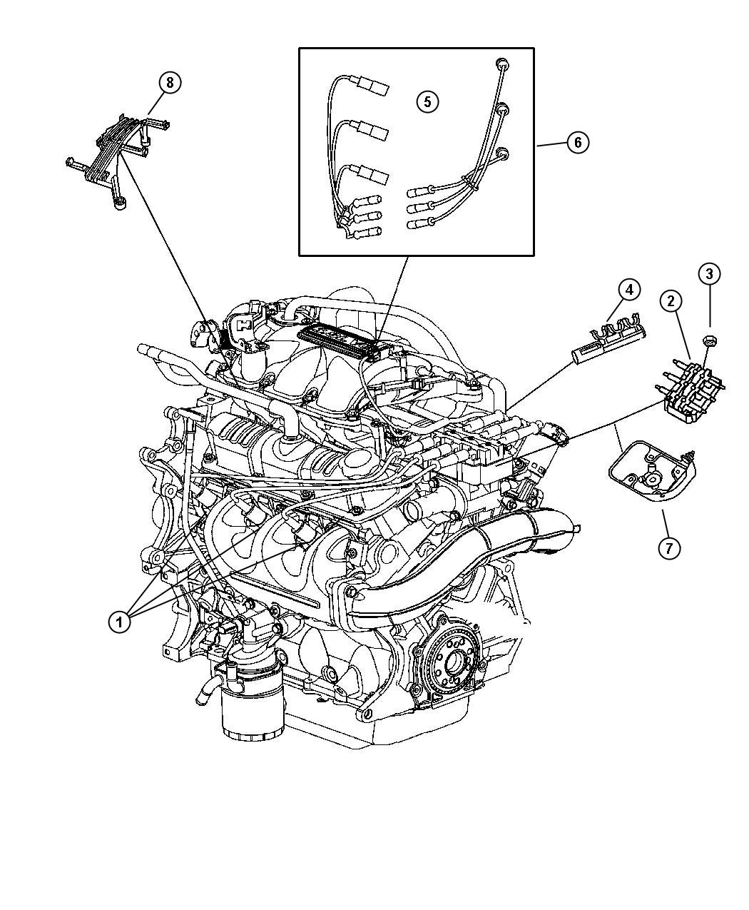 2004 Chrysler Pacifica Engine Diagram Best Wiring Library 1999 Ford F 150 Power Window Spark Plugs 3 5