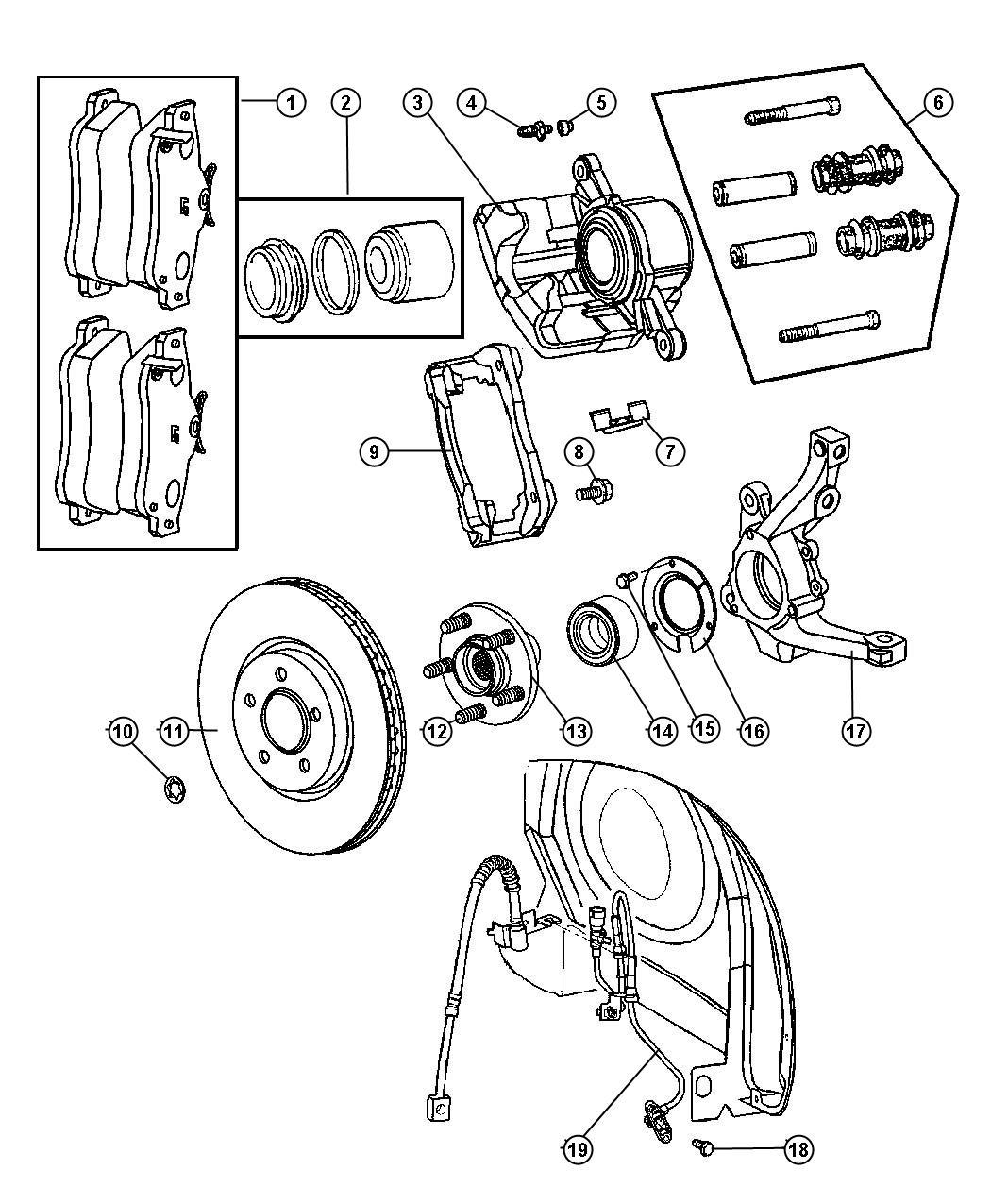2003 chrysler pt cruiser retainer  right or left  hub bearing plate  use with wheel bearing 39