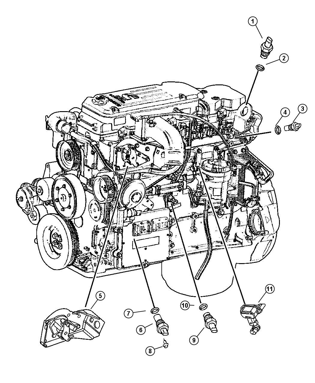 How Do You Replace The Crank Position Sensor On A 2001 Dodge Ram on dodge 5 9l engine diagram