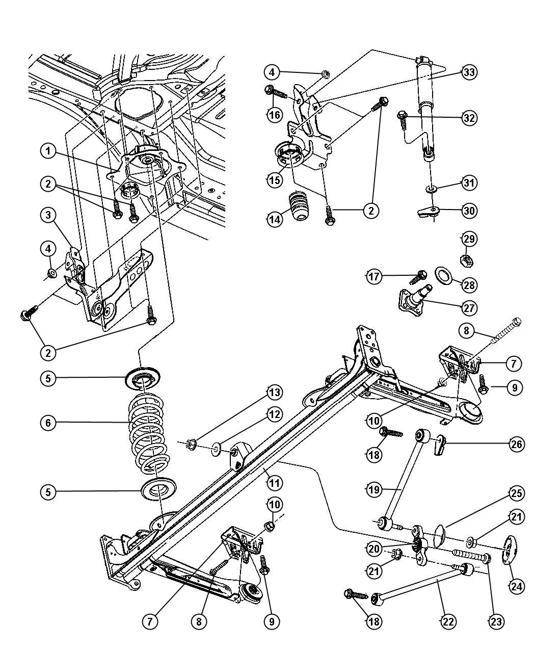 Chrysler Concorde 3 5 2003 Specs And Images also 45 2005 Jeep Liberty Parts Diagram further Chrysler 300m Thermostat Location additionally Chrysler Sebring 2 4 2004 Specs And Images also RepairGuideContent. on chrysler concorde suspension diagram
