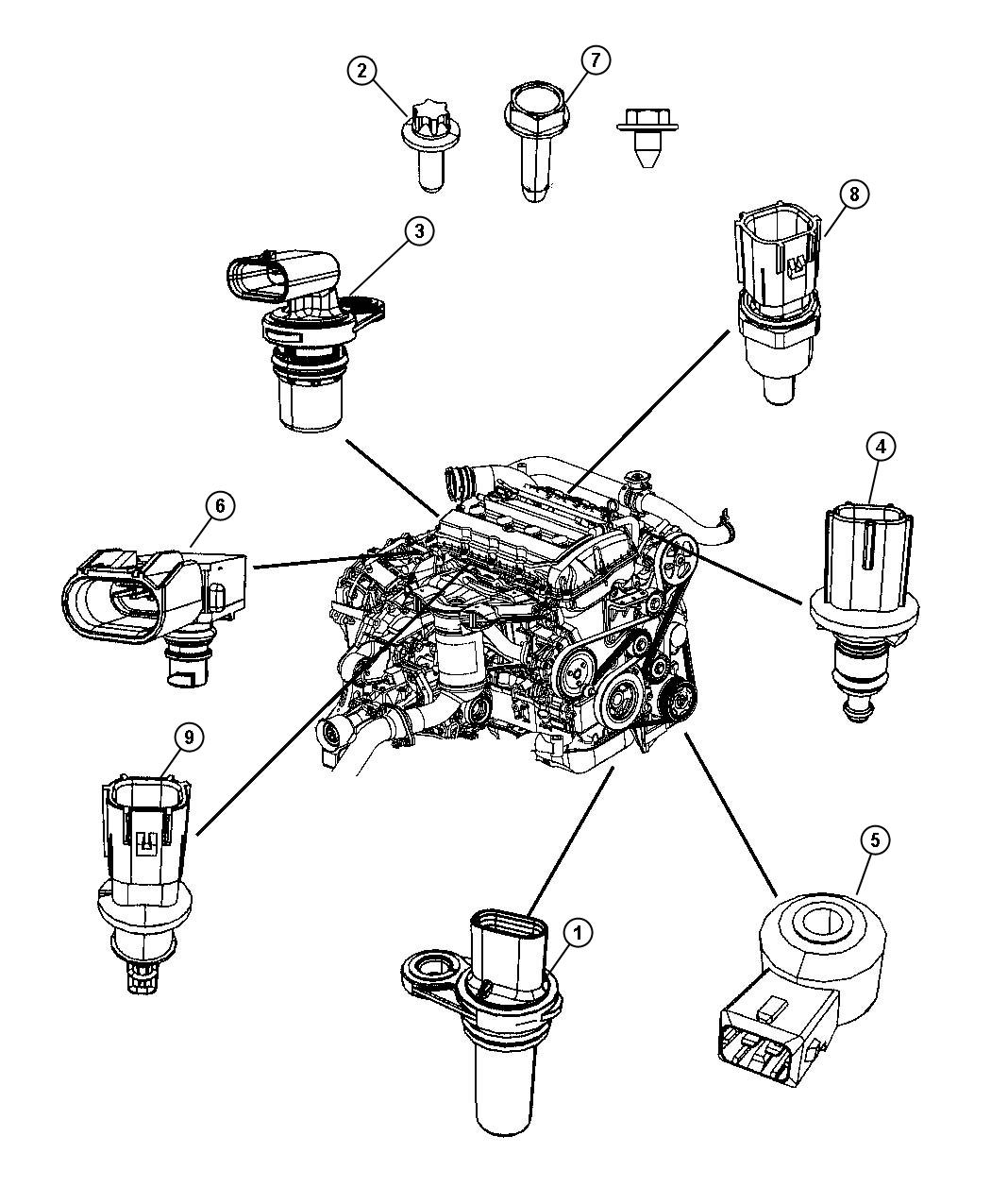 dodge caliber camshaft position sensor location  dodge