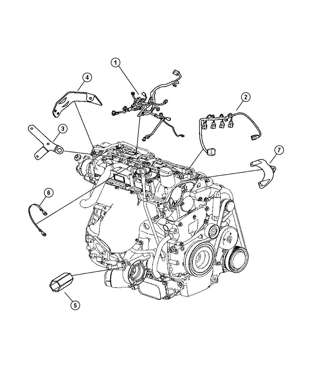 2008 Chrysler Pt Cruiser Wiring. Injector - 04795679AB ...