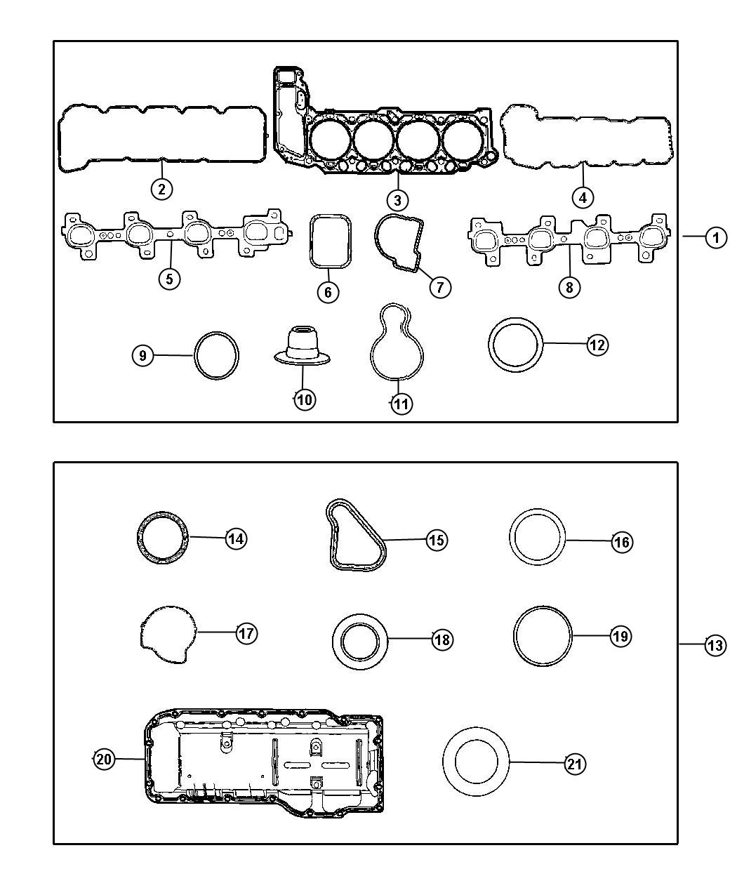 Gasket Packages 4.7L [4.7L V8 MPI Engine] [4.7L V8 FFV Engine]. Diagram
