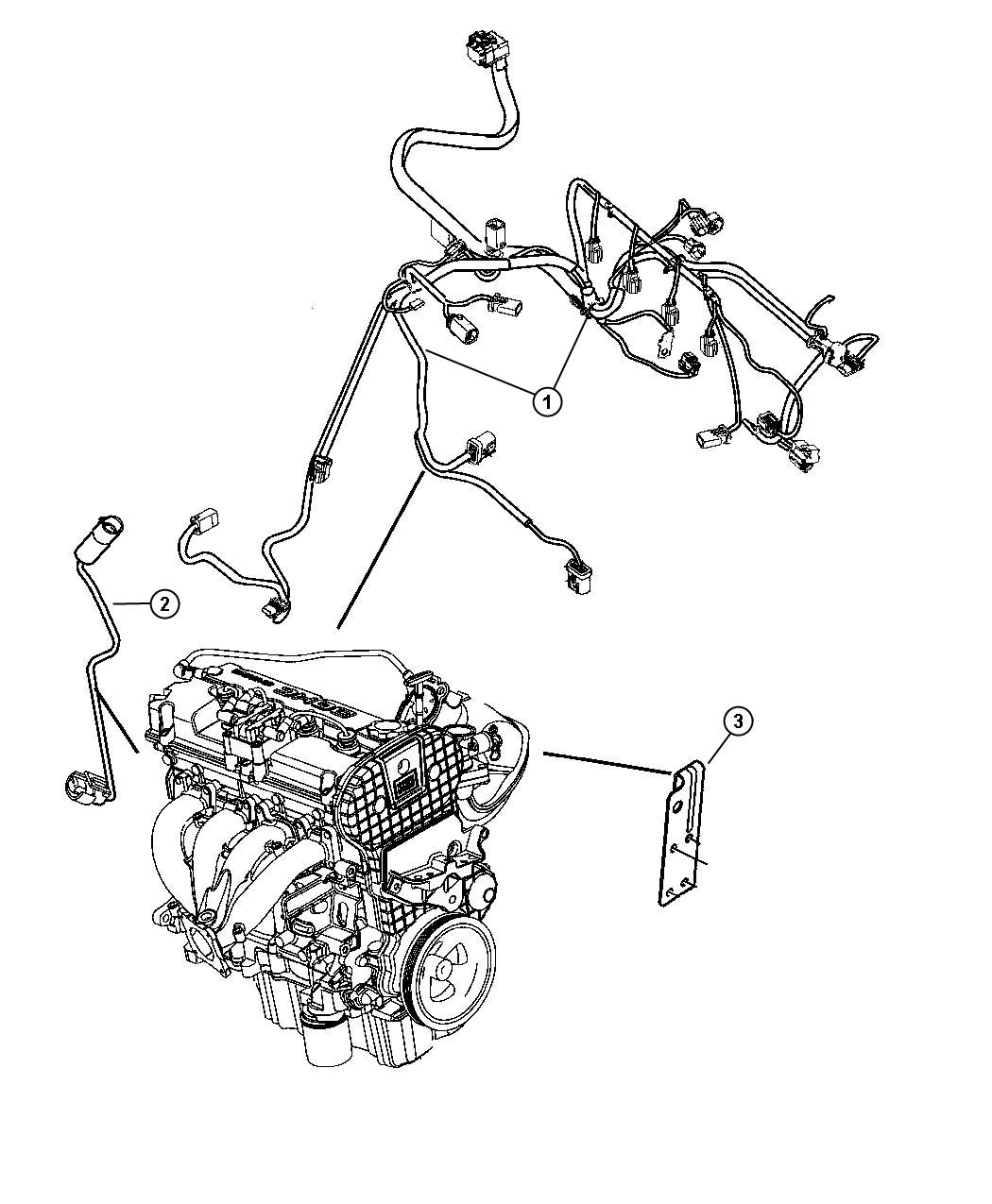 2007 Chrysler Sebring Wiring  Engine