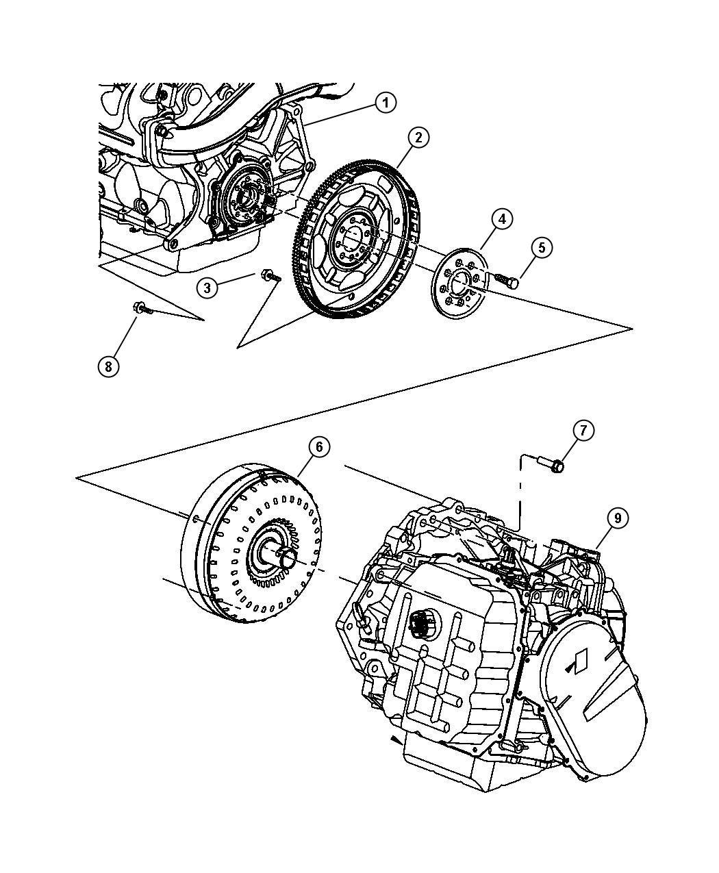 2007 chrysler pacifica transmission mount