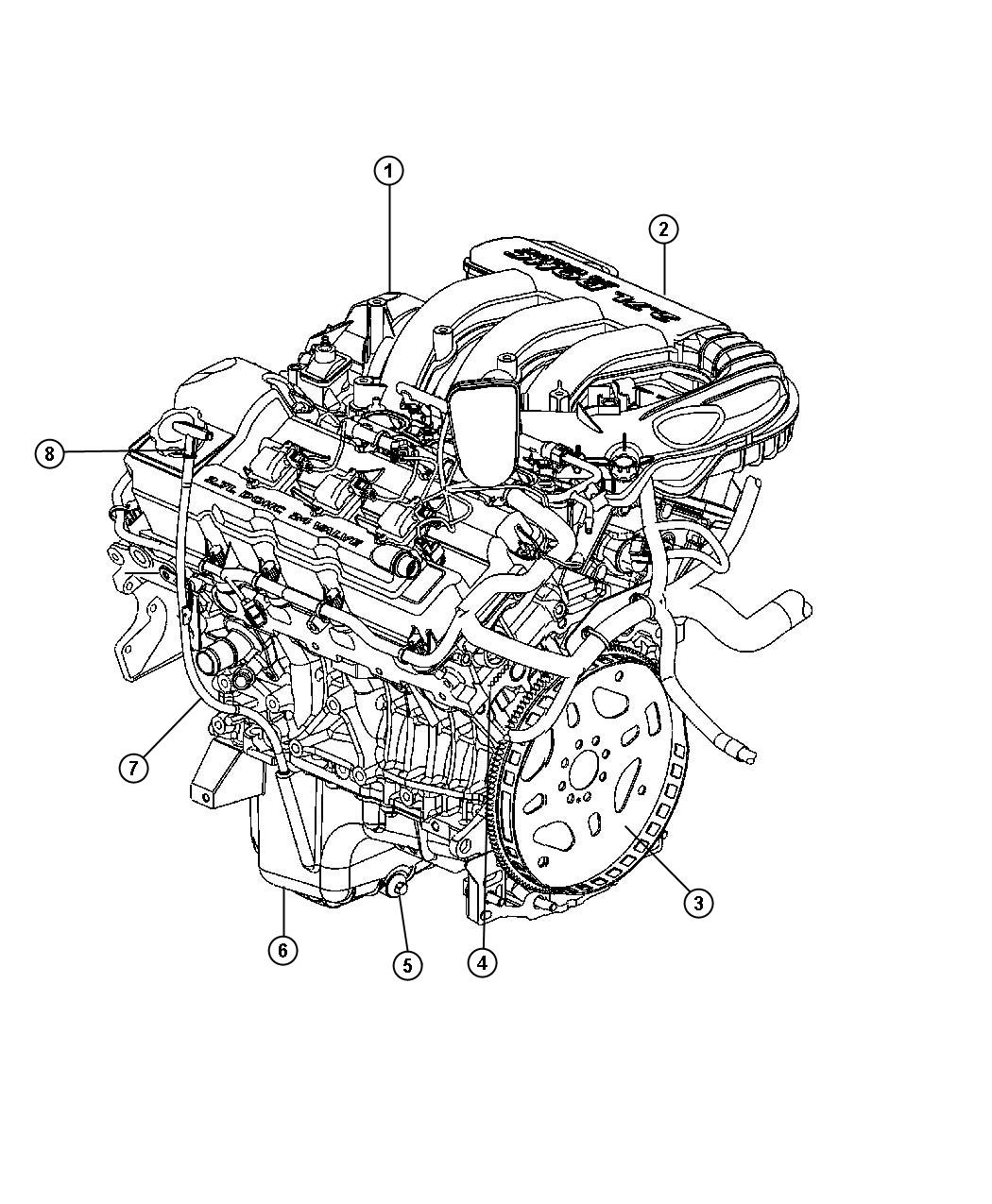 picture of chrysler 300 motor and engine parts  picture