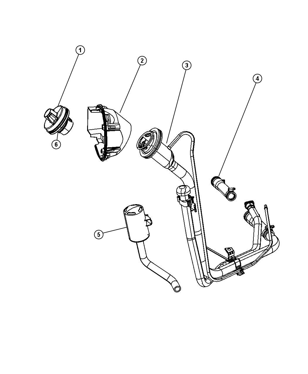 2012 jeep liberty fuel tank parts diagram