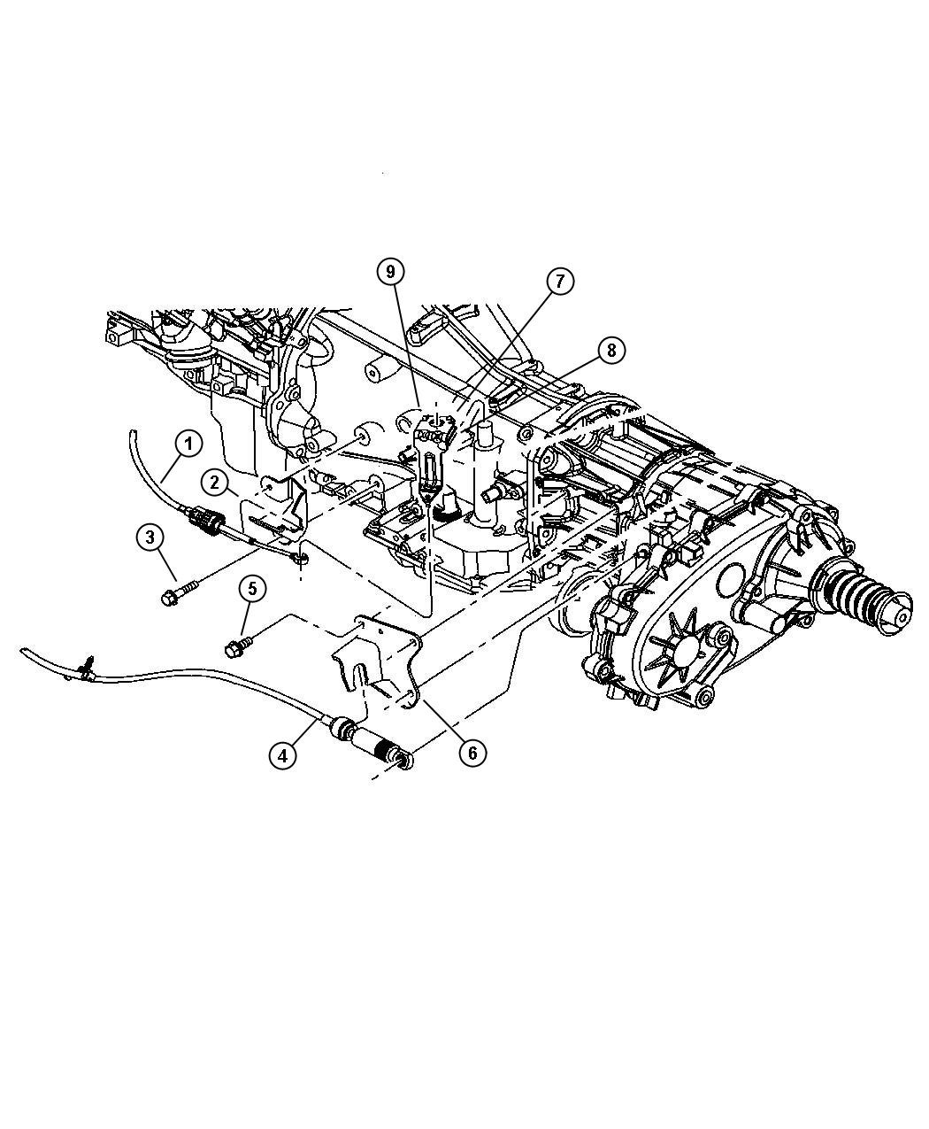 2006 Jeep Liberty Shifter  Transfer Case  With  Selec