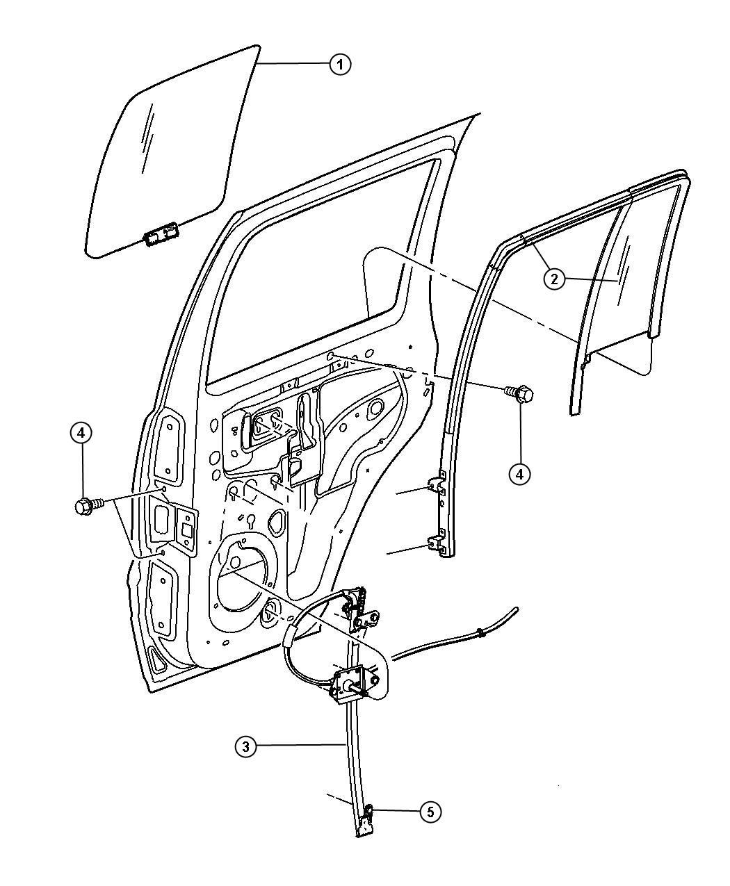 2004 Jeep Grand Cherokee Window Regulator Diagram