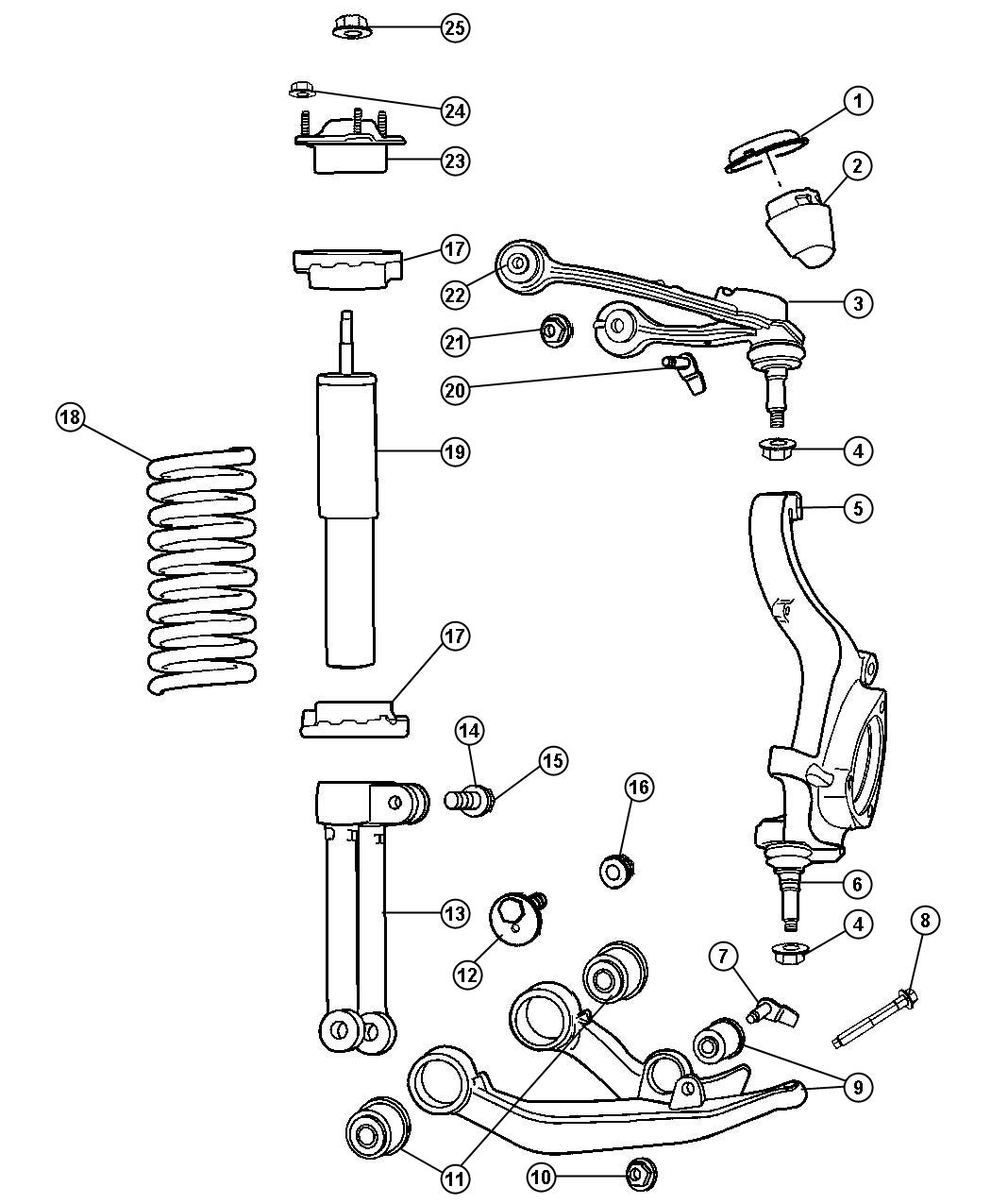 2007 ford freestyle front end diagram
