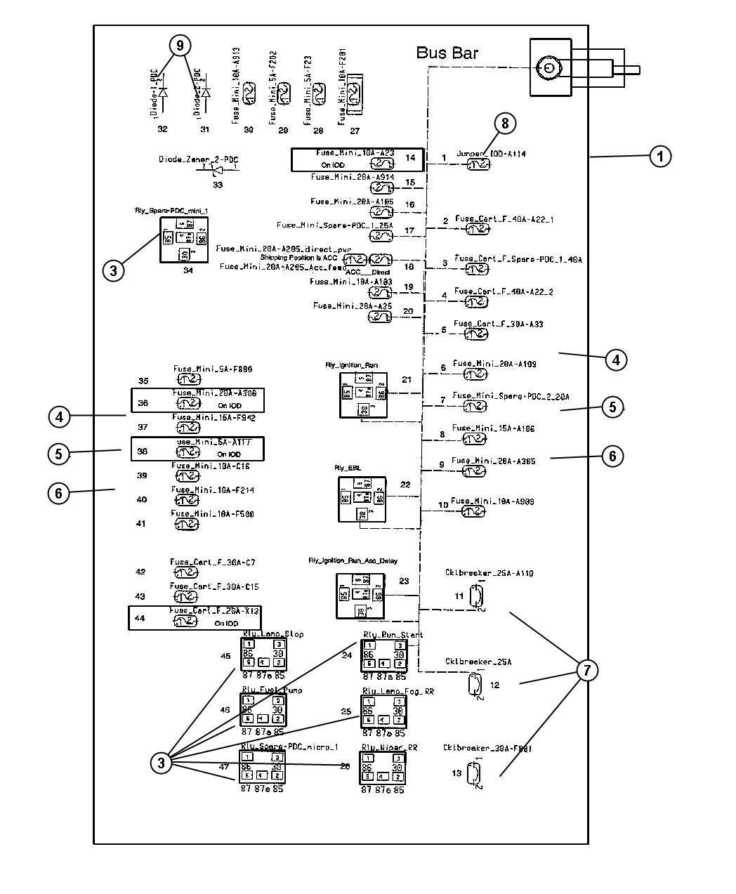 chrysler 300 fuse 60 amp iod fuse 05161423aa factory. Black Bedroom Furniture Sets. Home Design Ideas