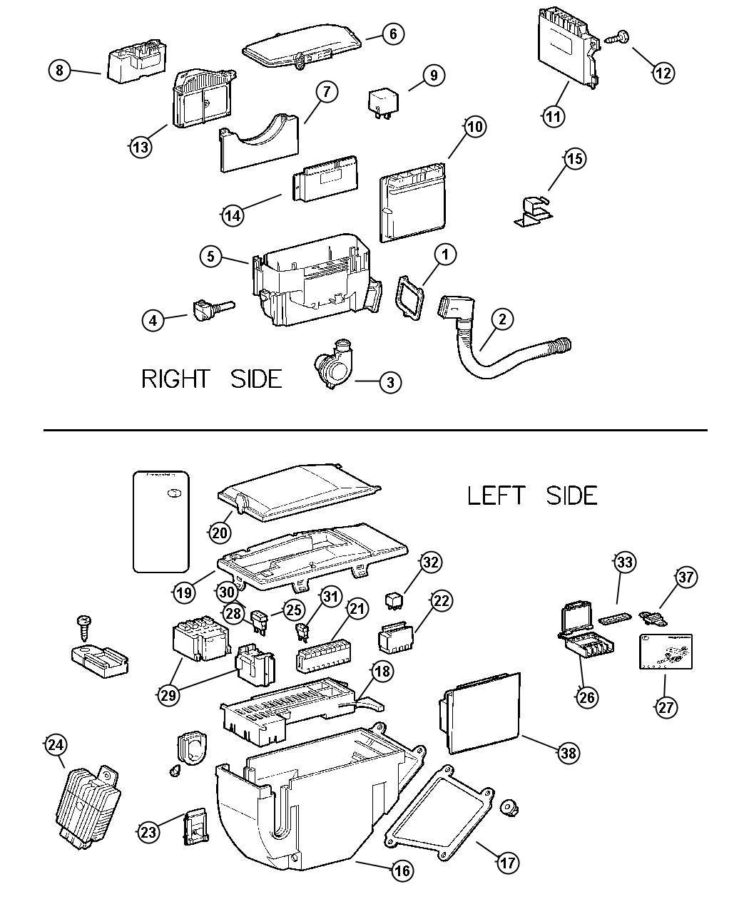 05099007aa mopar relay boxes factory chrysler parts. Black Bedroom Furniture Sets. Home Design Ideas