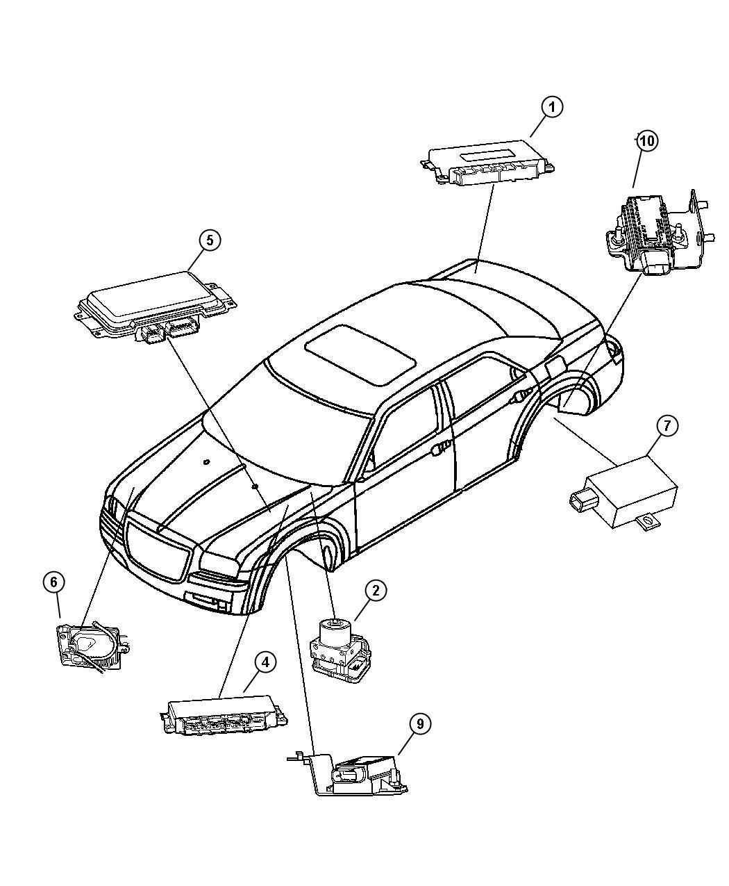 Dodge Nitro Module  Transmission Control  Areas