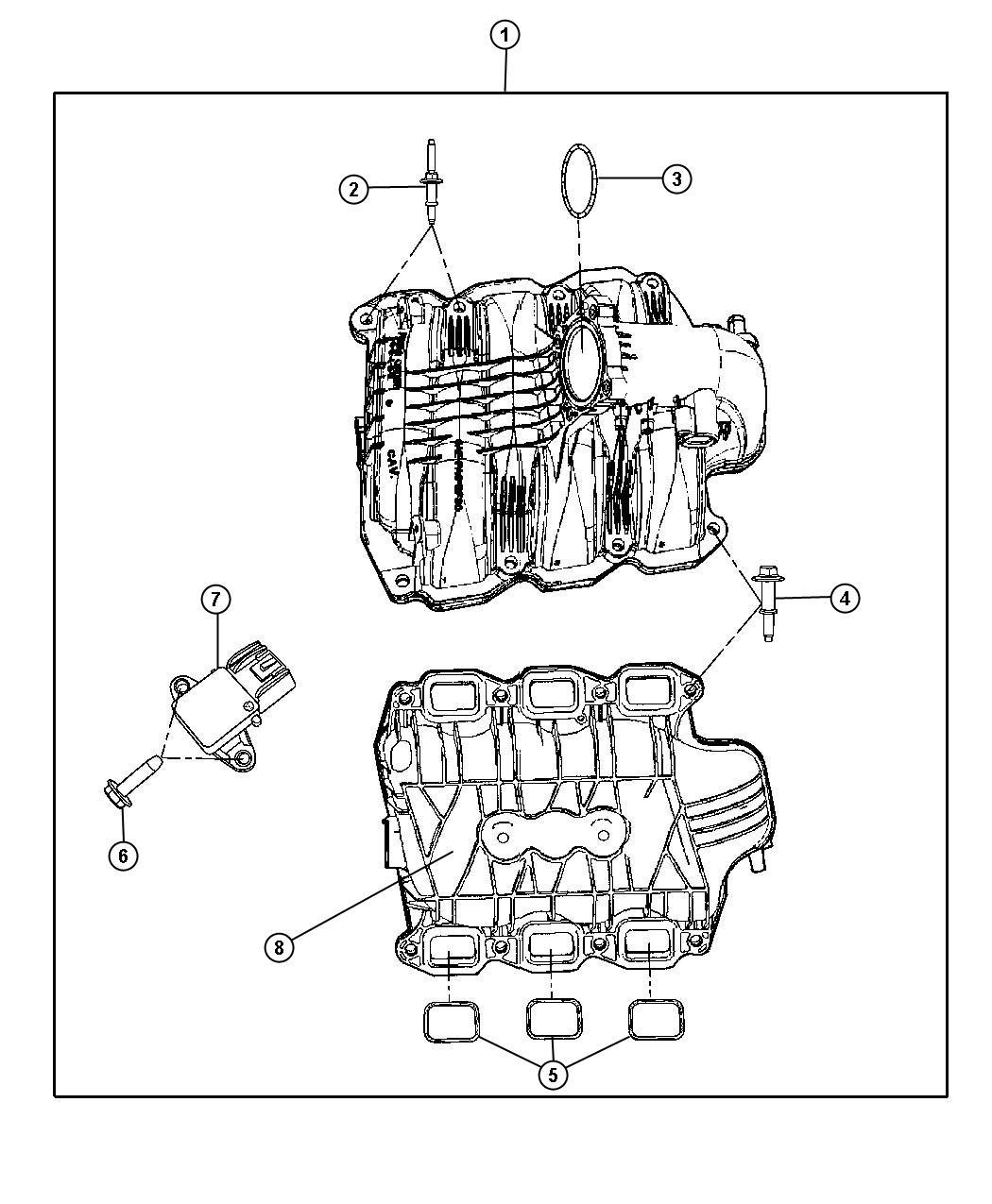 04666113AA     Chrysler    Gasket    Throttle       body        throttle       body