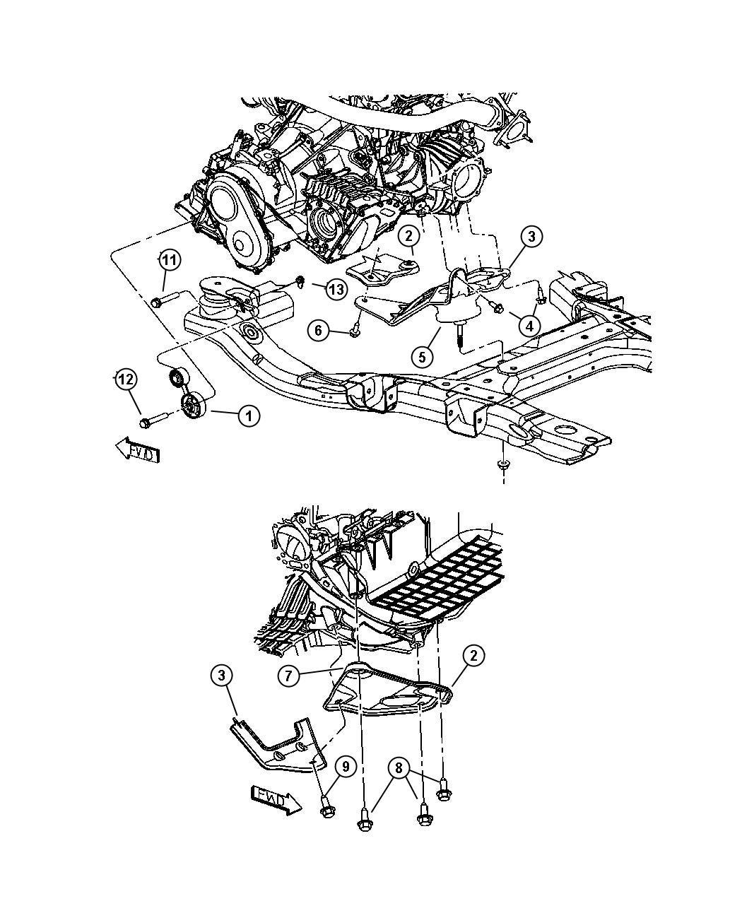 chrysler pacifica bracket  engine mount  mountenginerear