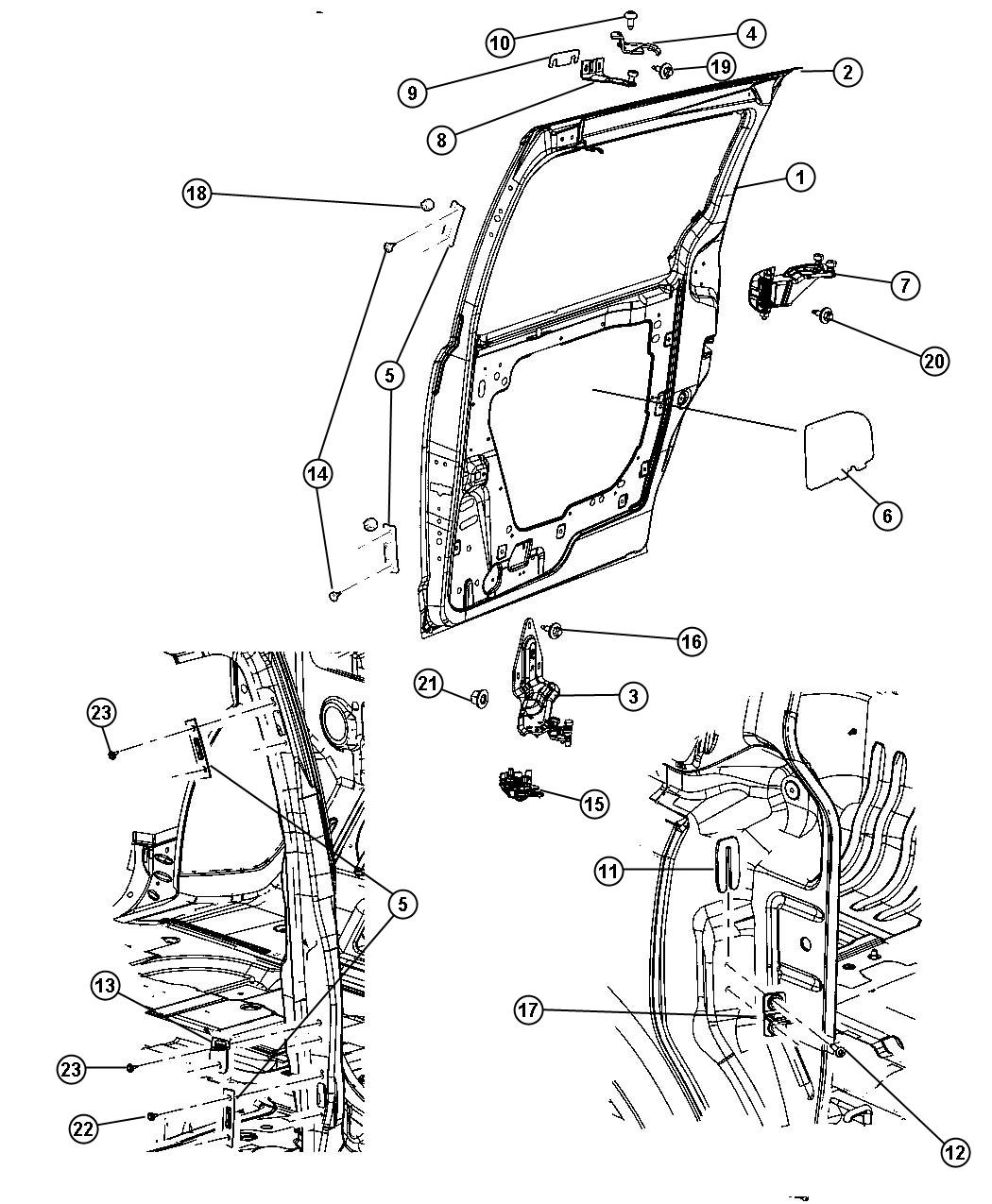 wiring diagram chrysler town country sliding doors