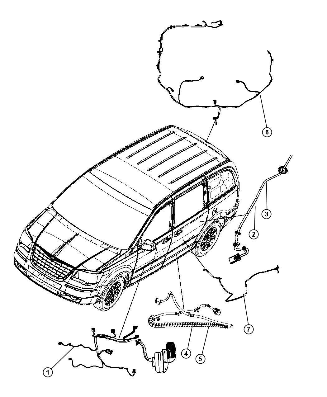 Dodge Grand Caravan Wire Track  Sliding Door Right