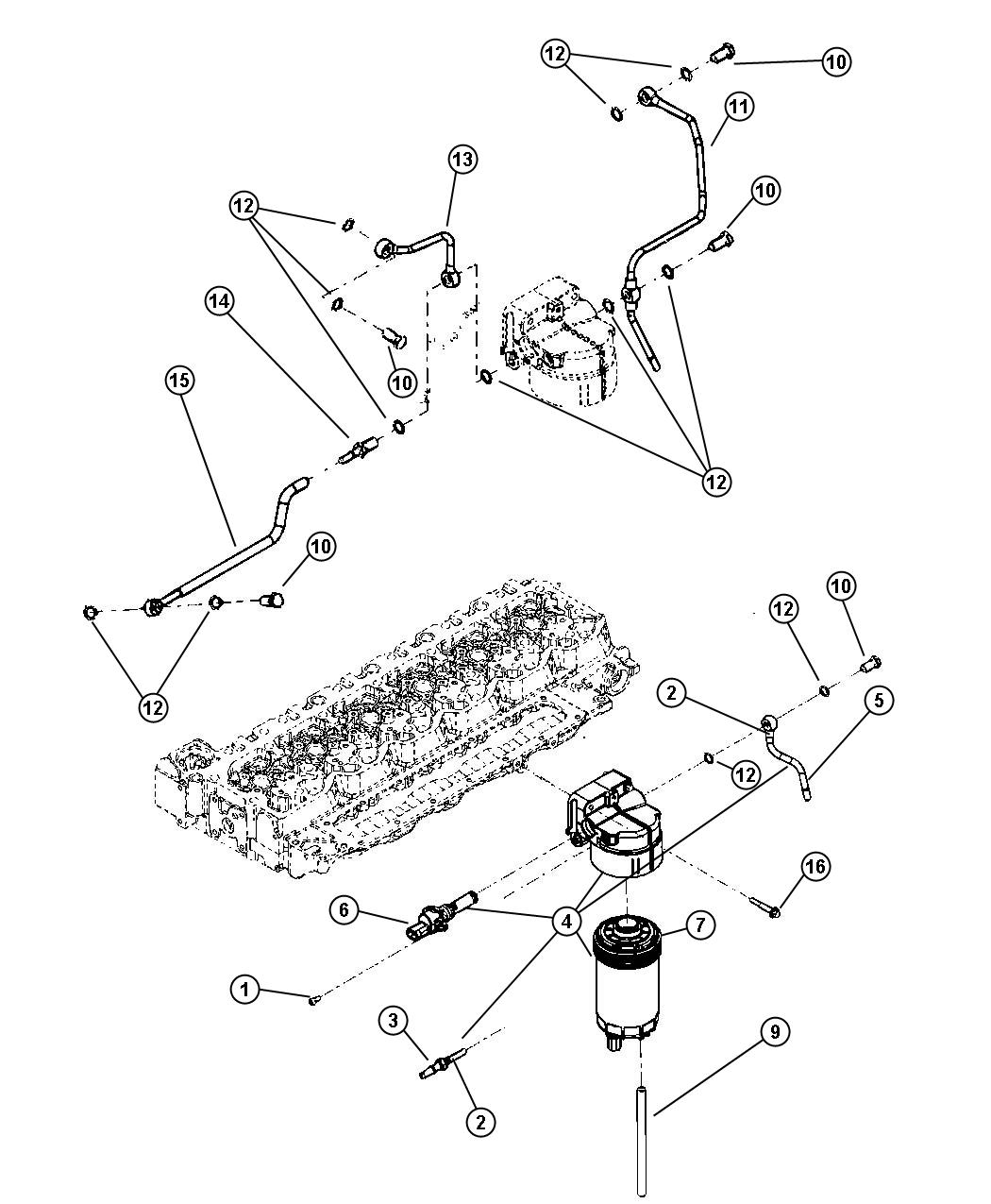 new genuine mopar 5183410aa fuel filter  3 available