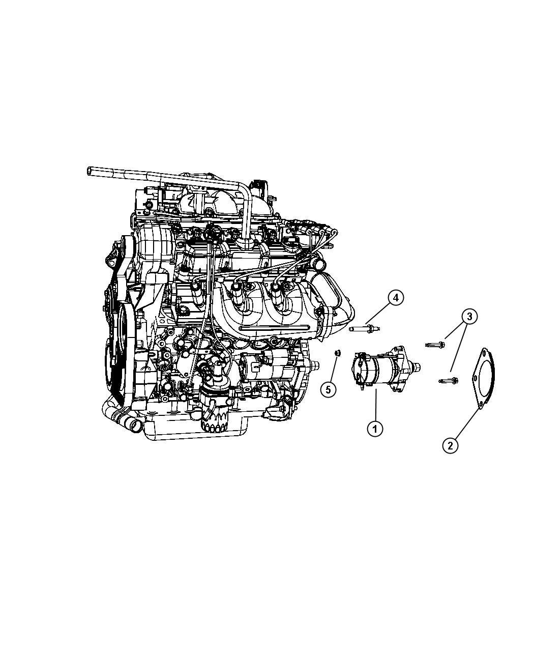 2008 Chrysler Town  U0026 Country Starter  Engine