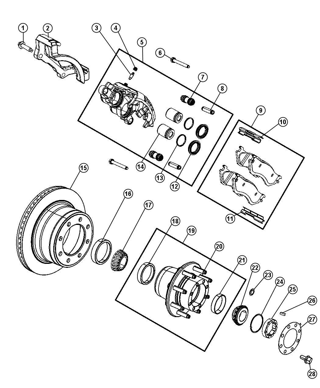 Dodge RAM 2500 Wheel Bearing