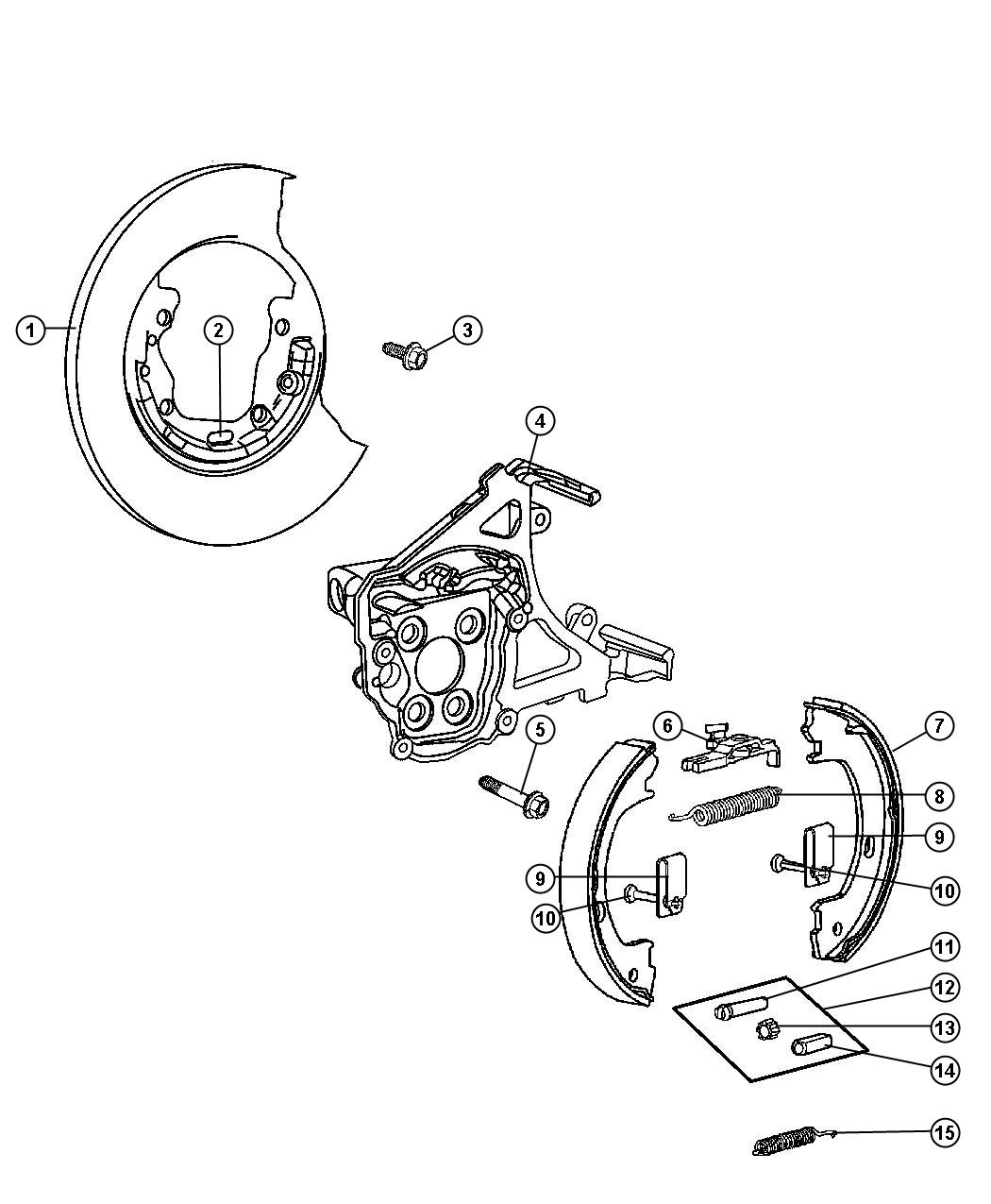 Park Brake Assembly, Rear Disc