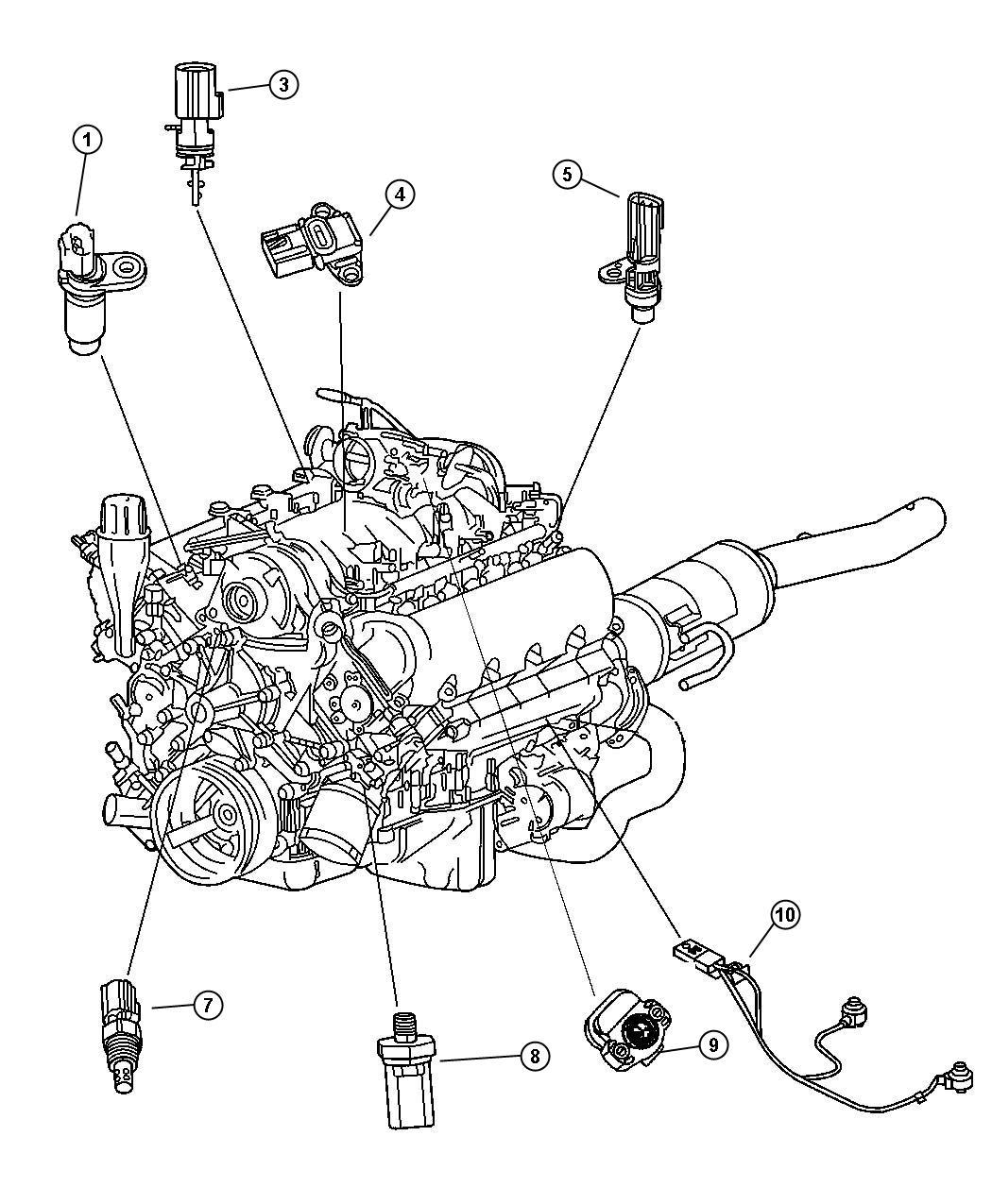 2009 Chrysler Aspen Sensor. Camshaft - 05149054AC ...