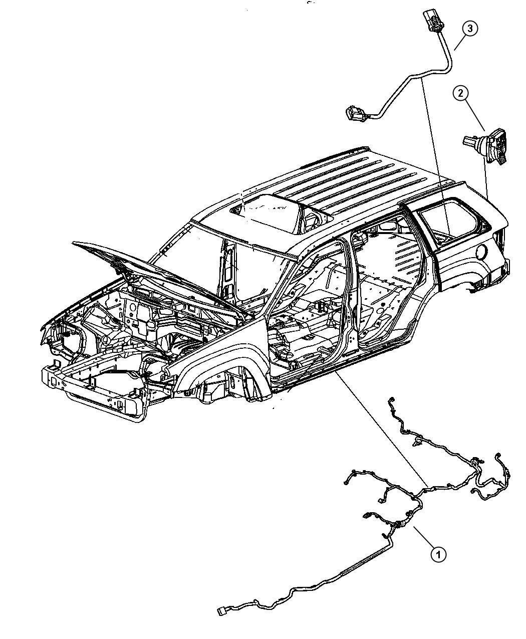 2008 Jeep Grand Cherokee Wiring  Underbody