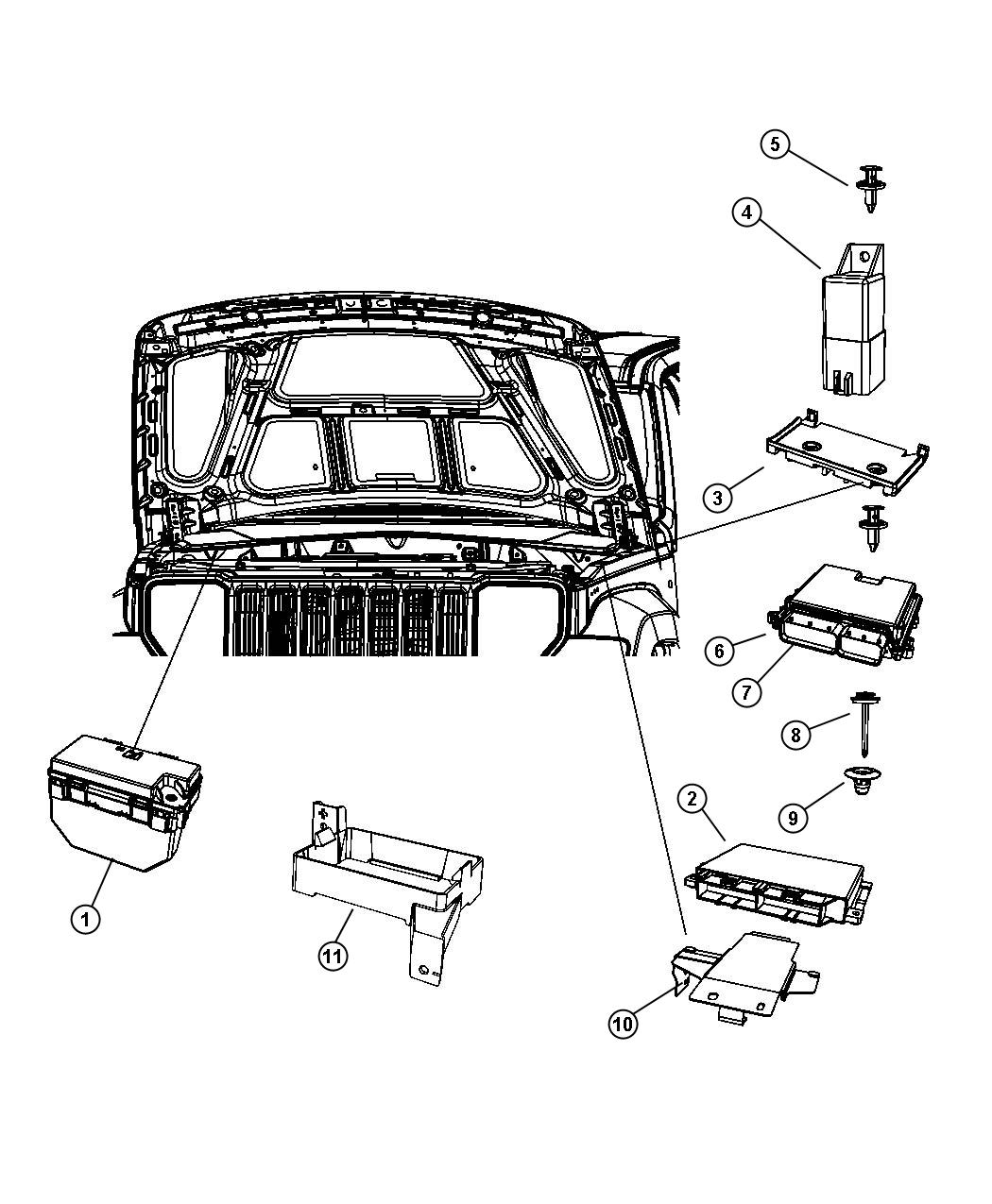 2008 Jeep Liberty Module  Totally Integrated Power