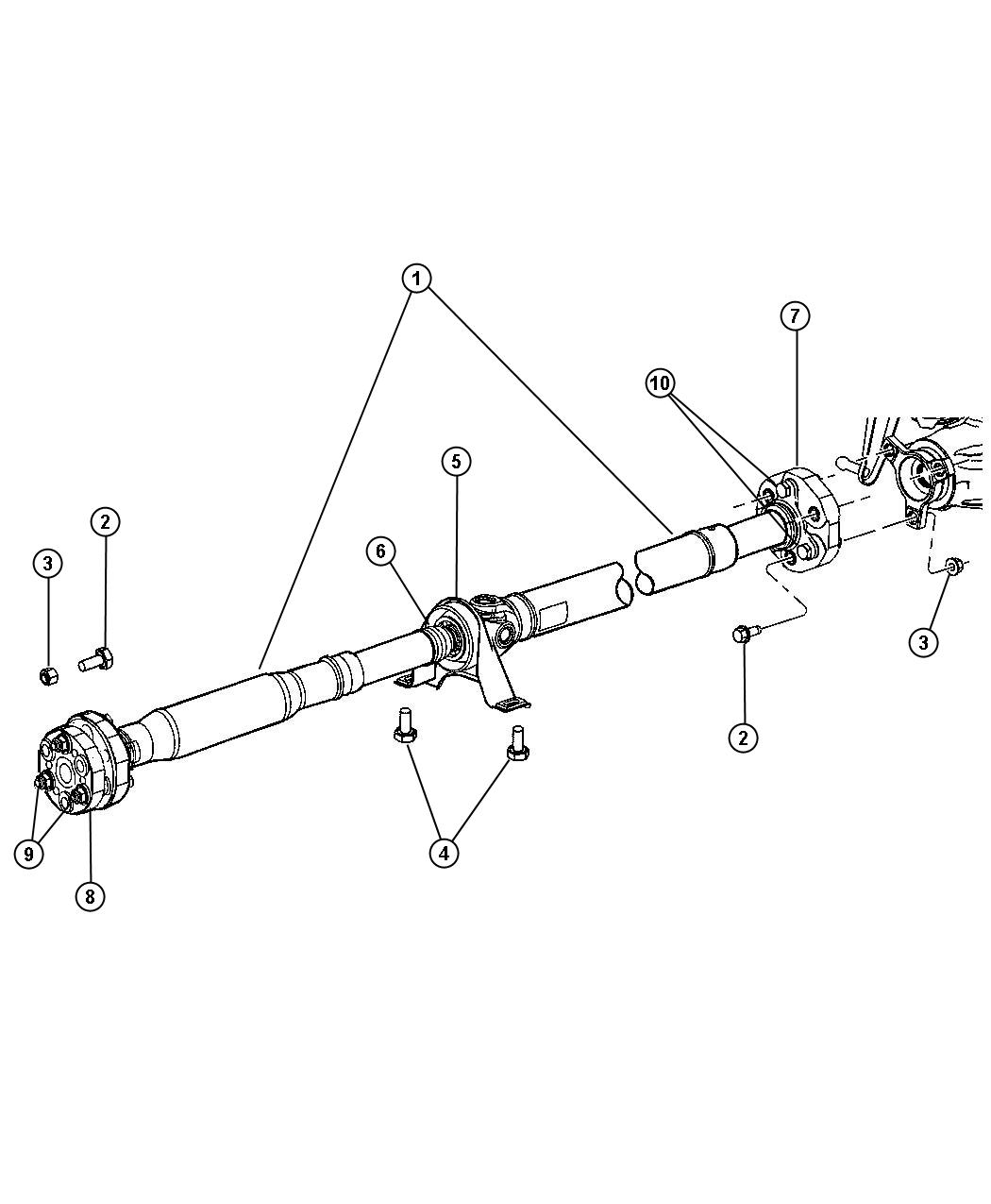 Chrysler 300 Bearing  Drive Shaft