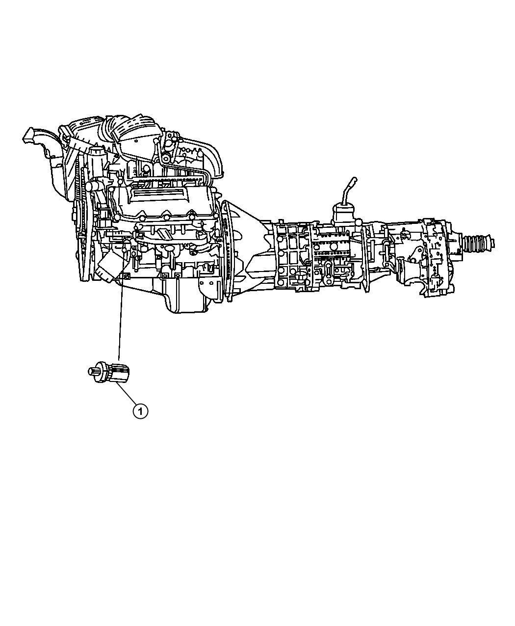 2012 Jeep Grand Cherokee Sending Unit  Oil Pressure