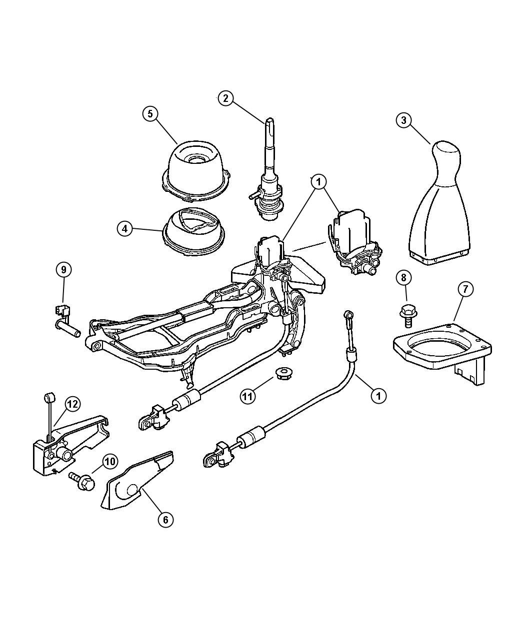 service manual  changeing gear shift assembly 1996 jeep