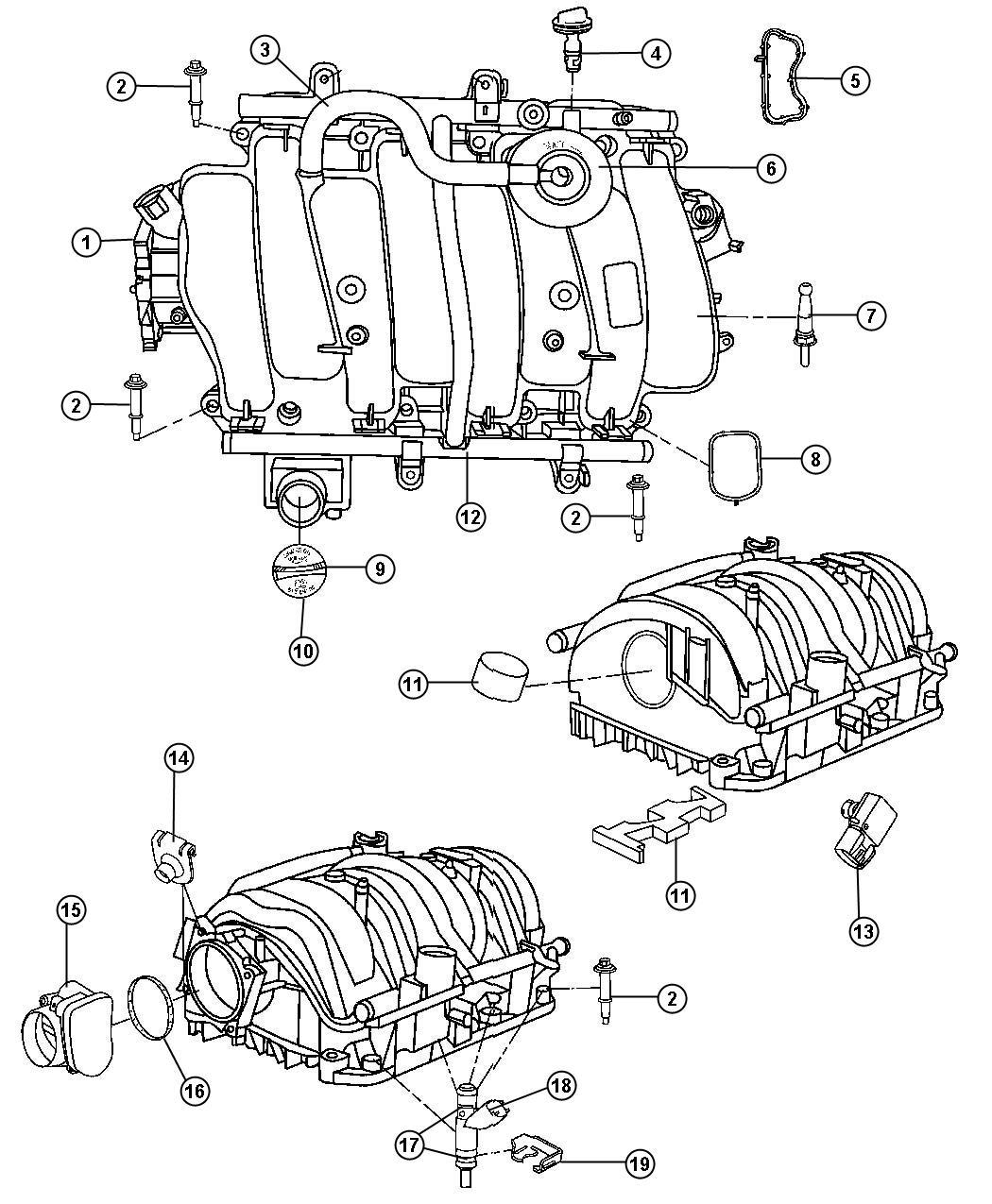 57 Hemi Intake Manifold Diagram