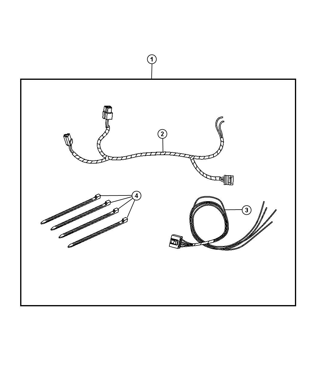 Wiring Kit - Electric Brake. Diagram