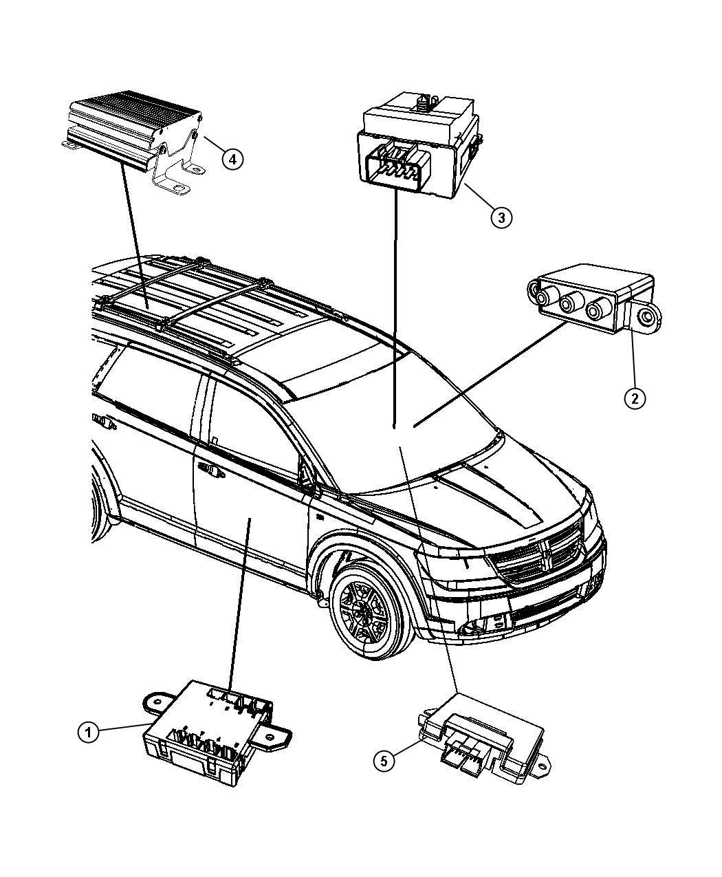 Dodge       Journey    Module Electric clutch control Viscous coupling  56029361AD   Factory Chrysler