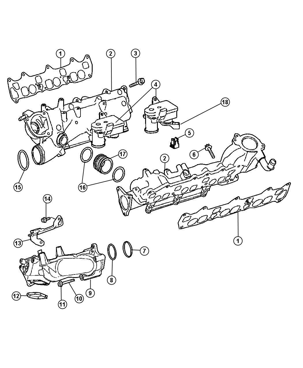 Dodge Sprinter 2500 Clip  Swirl Actuator