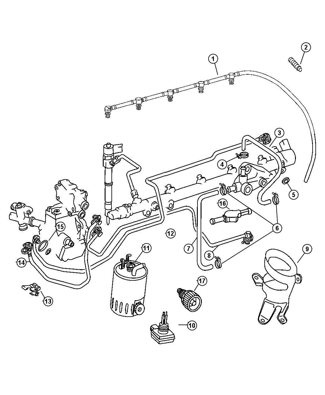 Dodge Sprinter 2500 Fuel Line And Filter