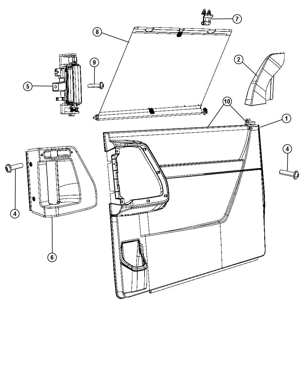 Sliding door trim panel