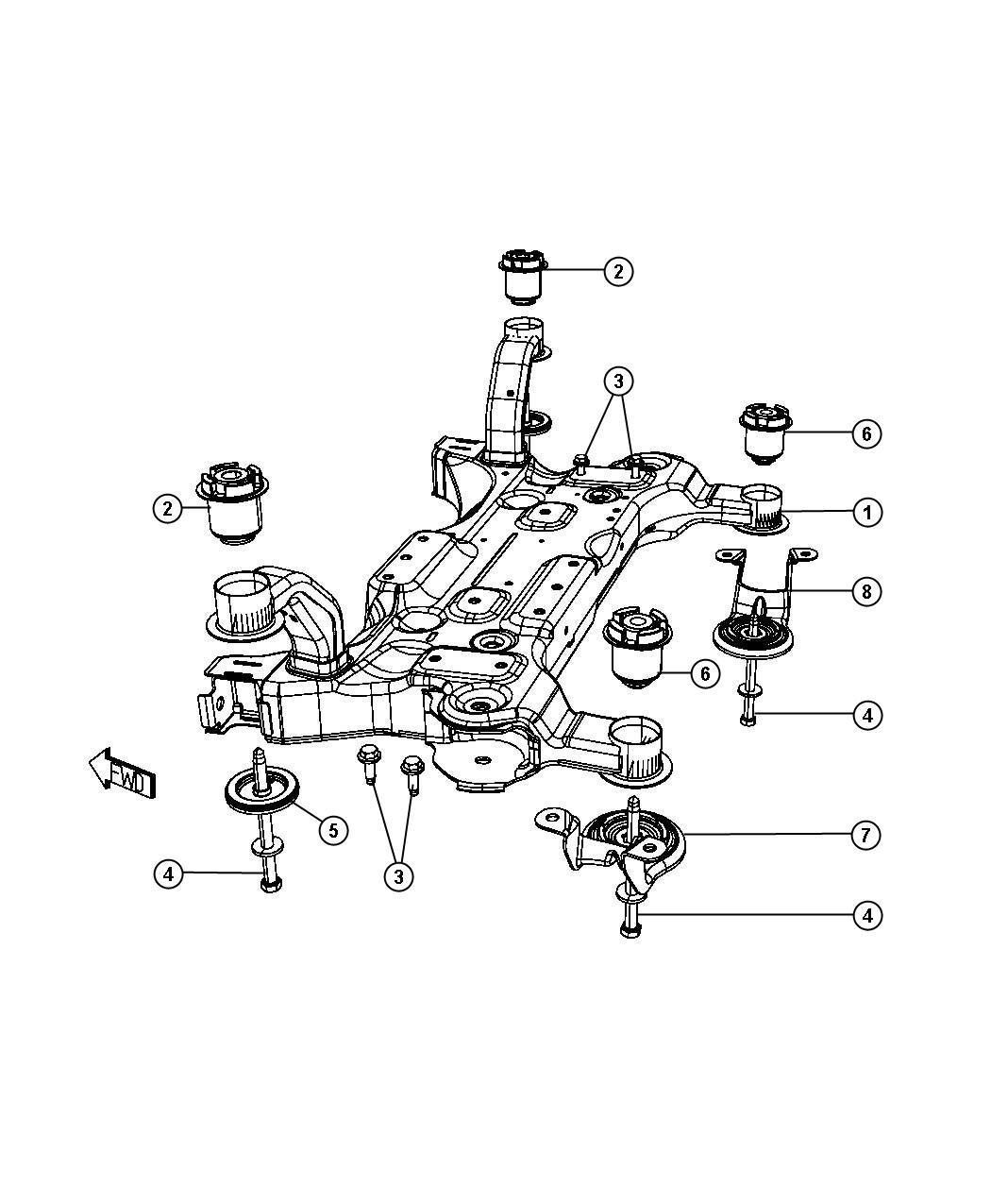05085819AJ - MOPAR Crossmember. Front suspension ...