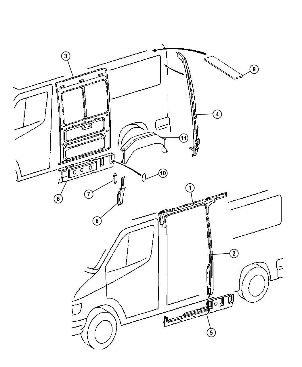 2005 dodge sprinter body parts