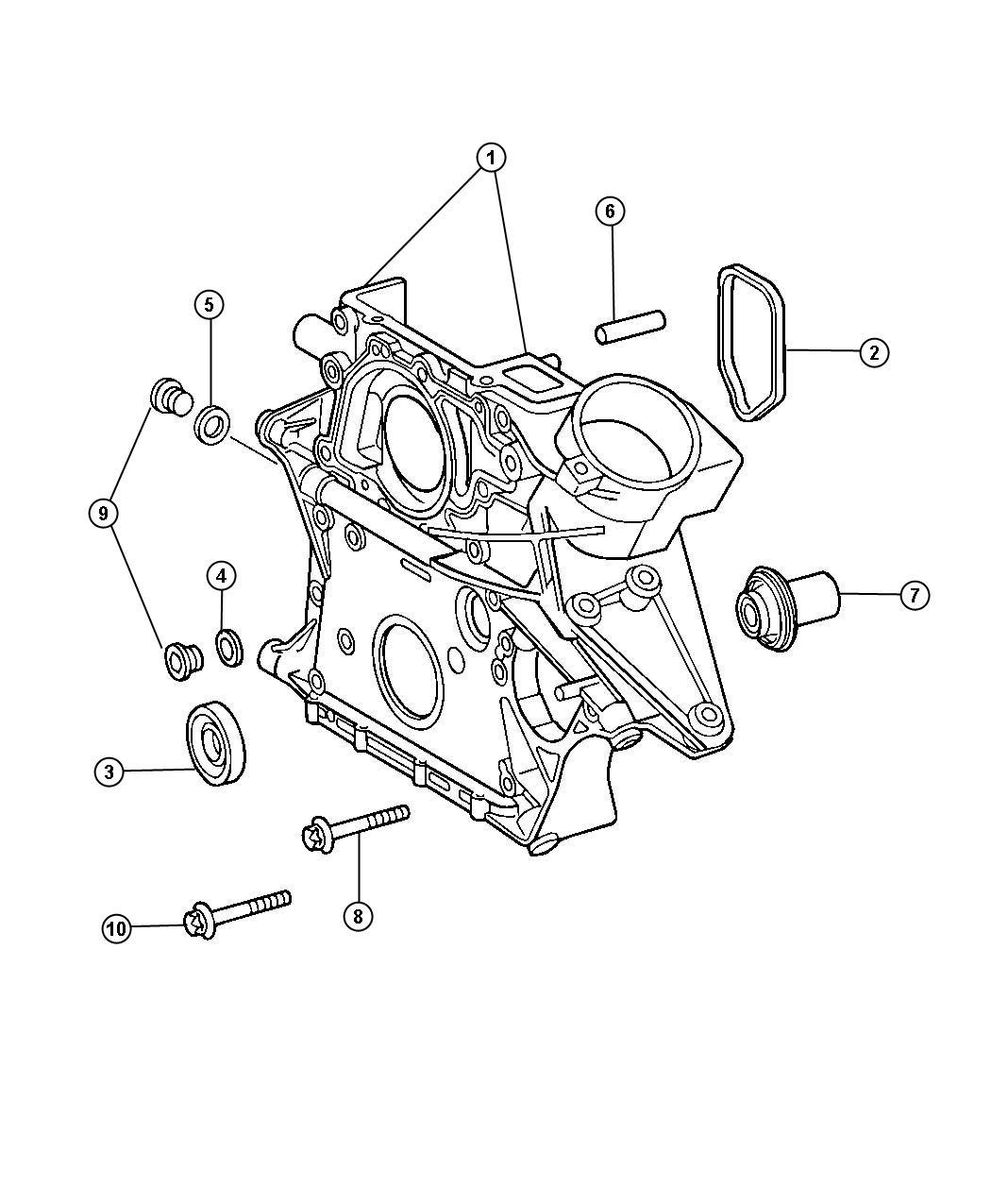 2013 Dodge Journey Bolt  Screw  Cylinder Head  Front