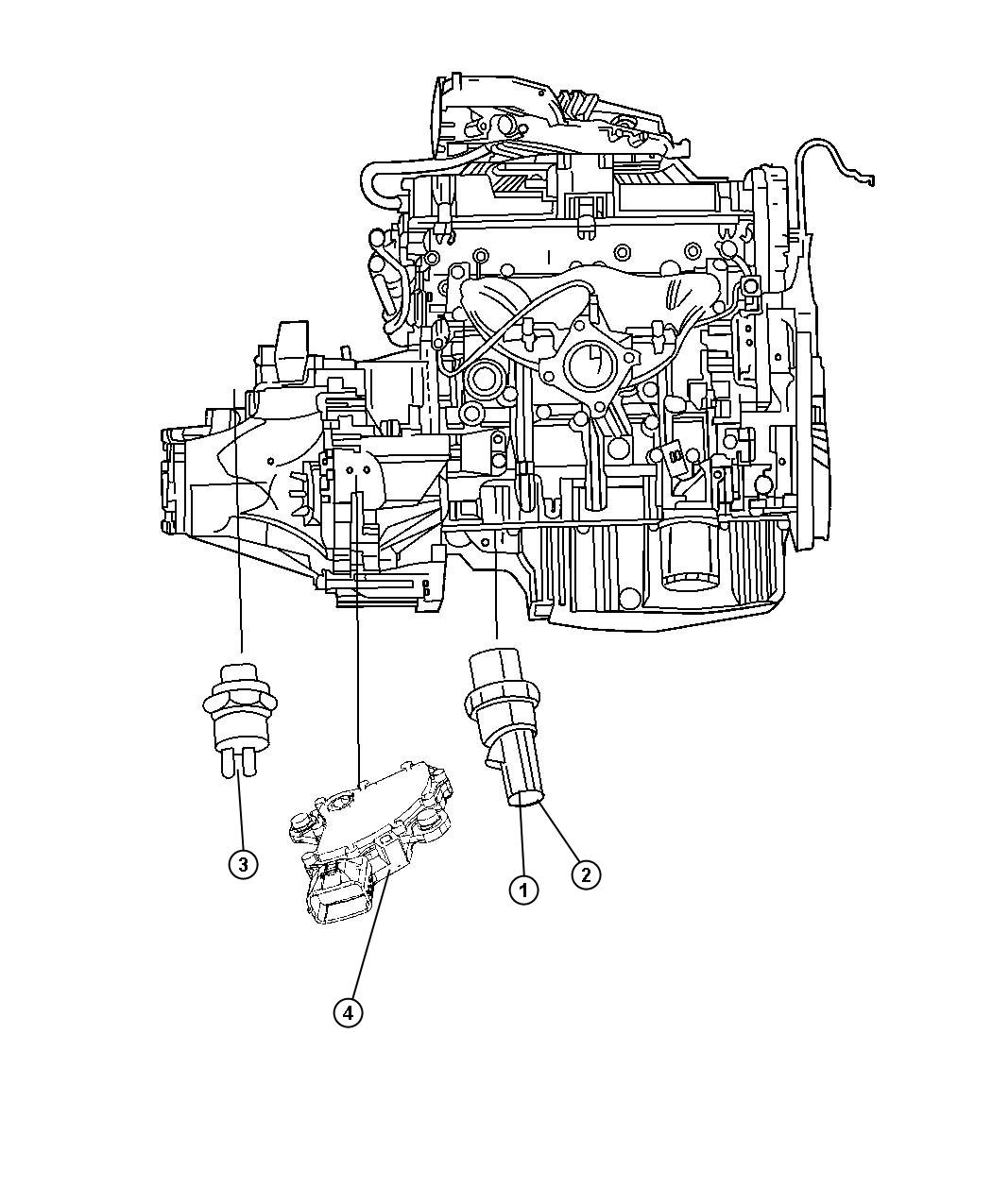 Jeep Patriot Sending Unit  Switch  Oil Pressure